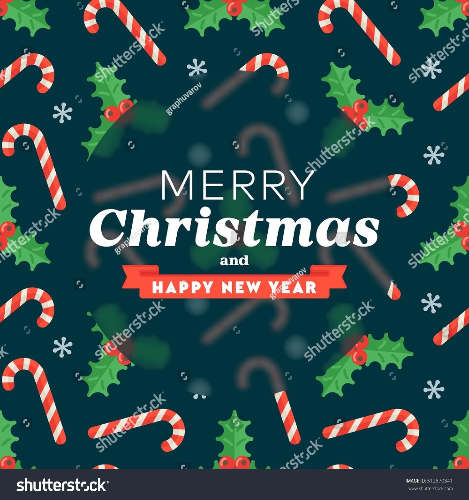 Christmas Greeting Card Seamless Flat Pattern Stock Vector Hd