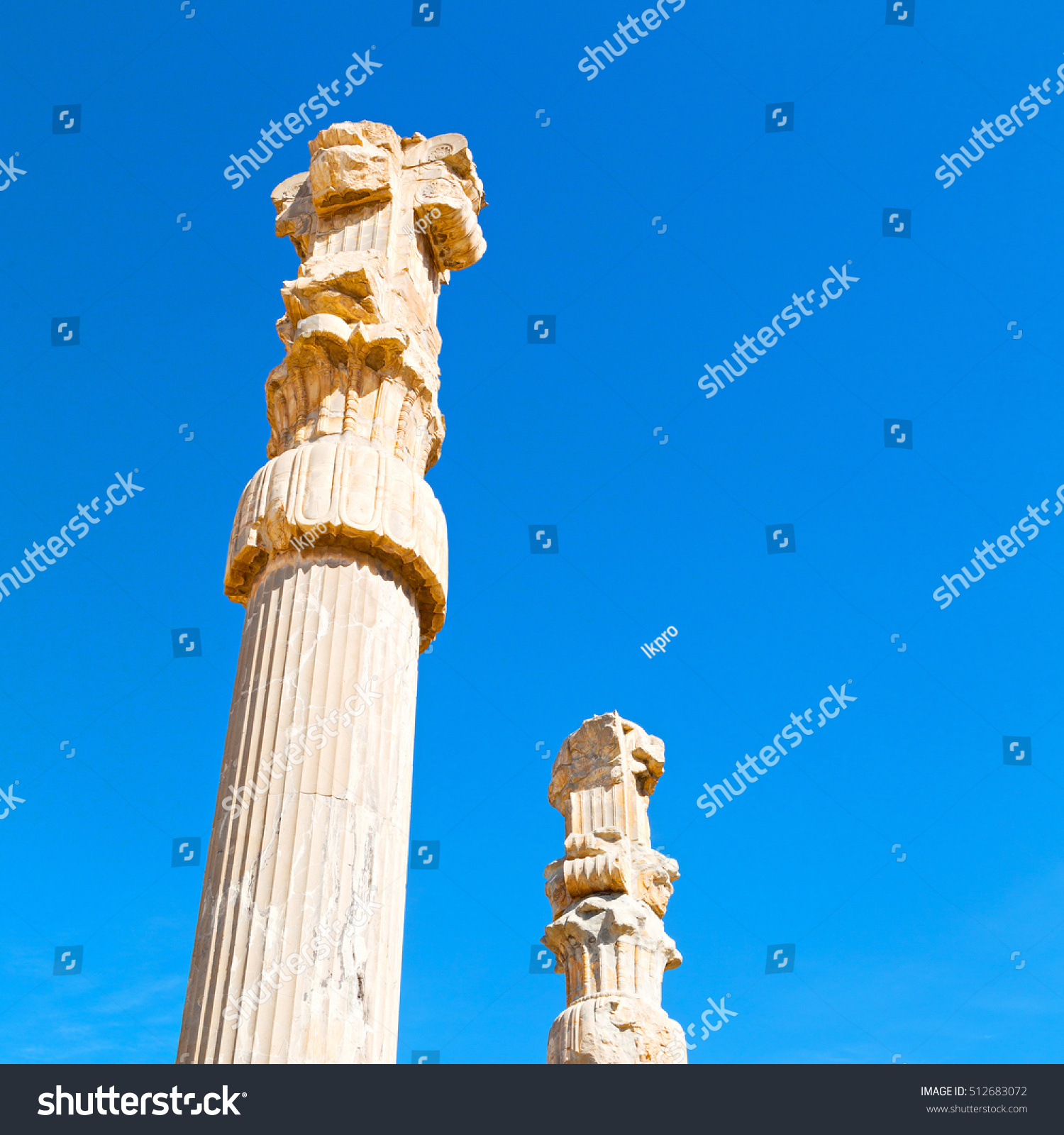 Blur Iran Persepolis Old Ruins Historical Stock Photo Edit Now 512683072