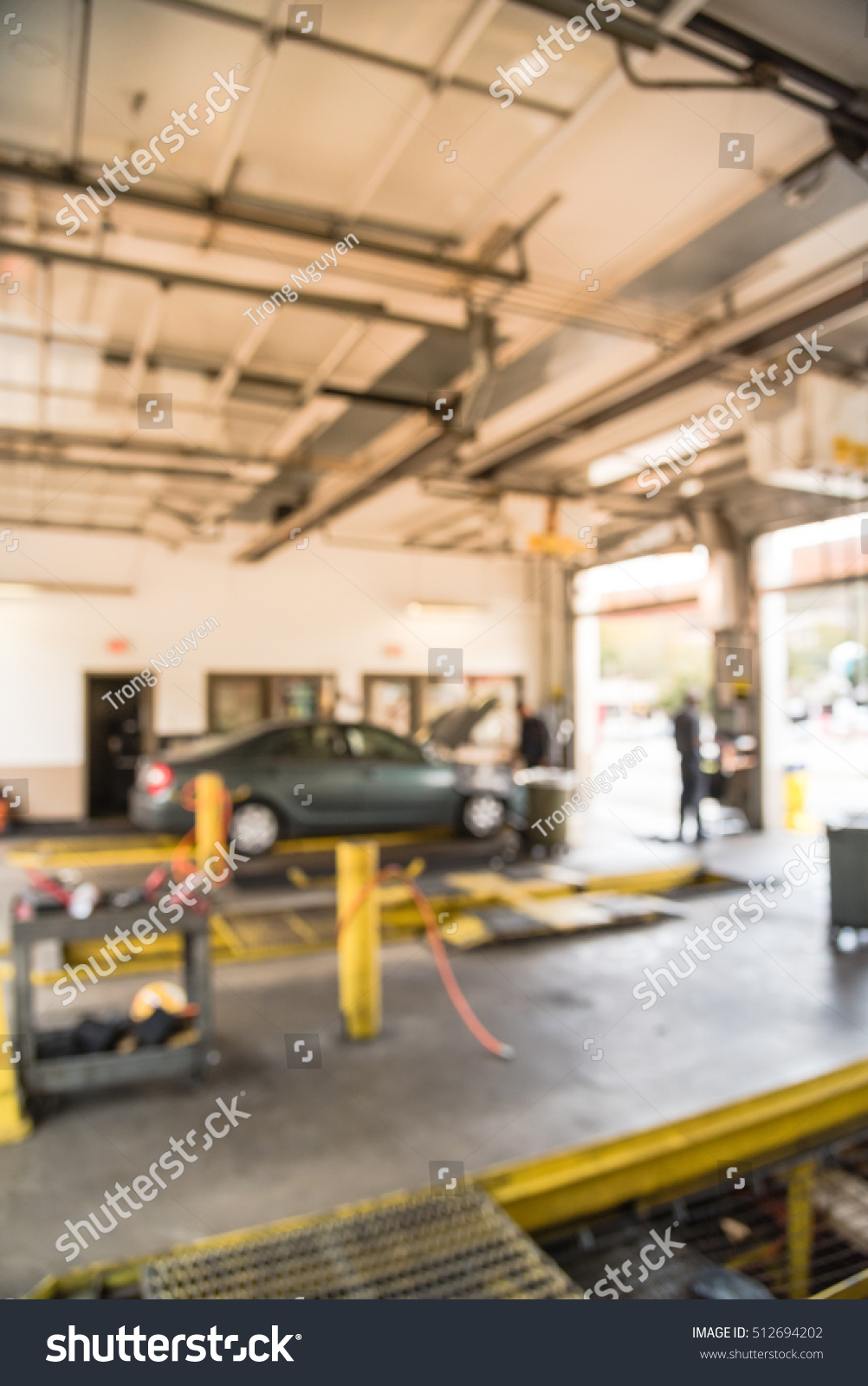 Blurred Image Car Auto Shop Defocused Stock Photo Edit Now 512694202