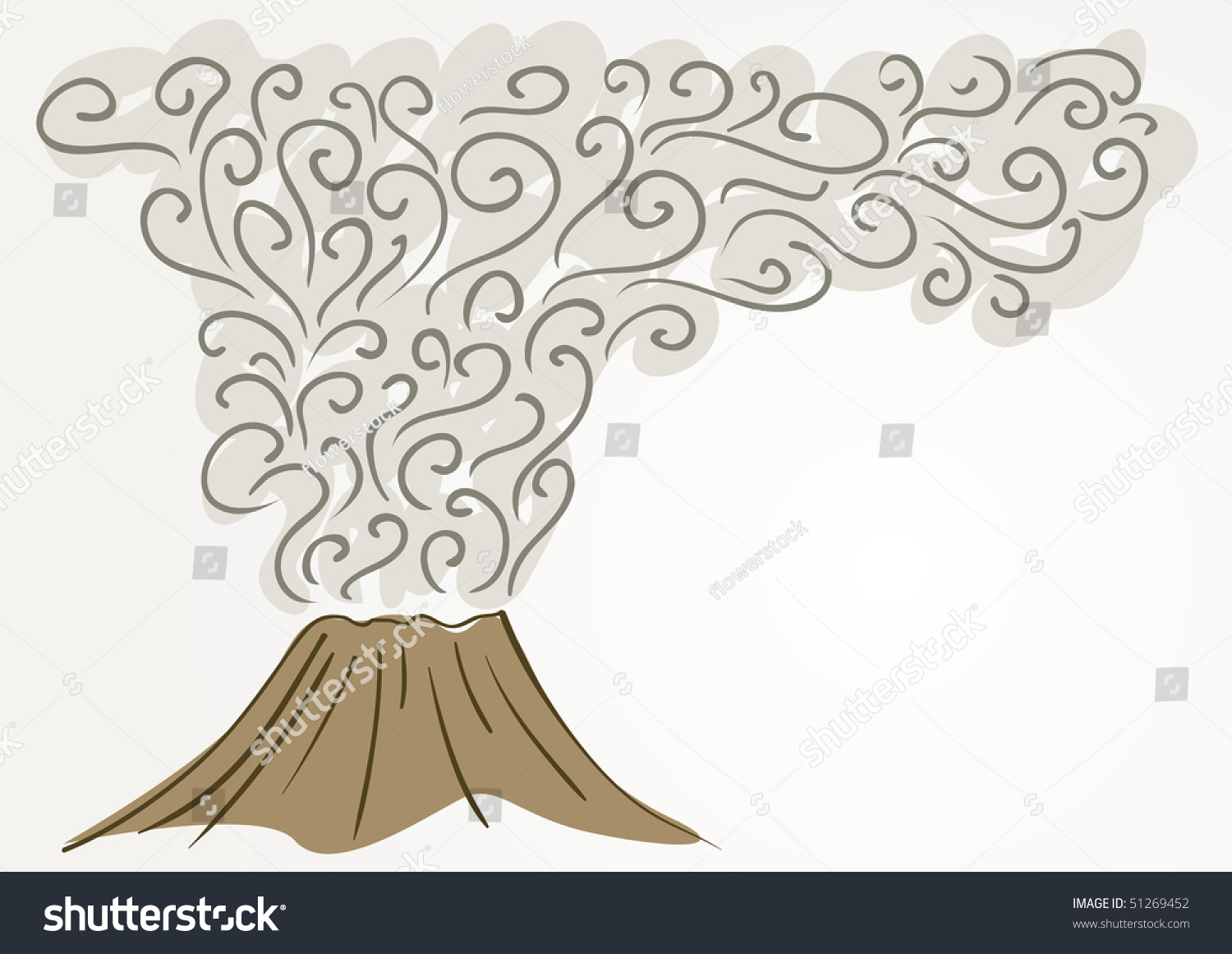 Line Drawing Volcano : Volcano vector background line art drawing stock