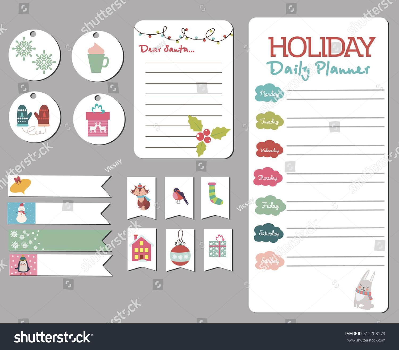 Cute Merry Christmas Daily Calendar Do Stock Vector (Royalty Free ...