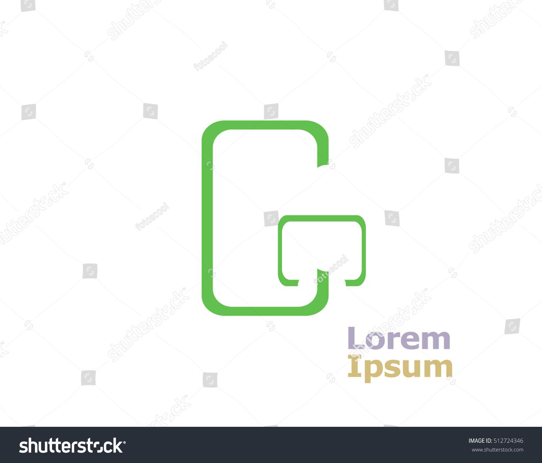 letter g logo design element template stock illustration 512724346