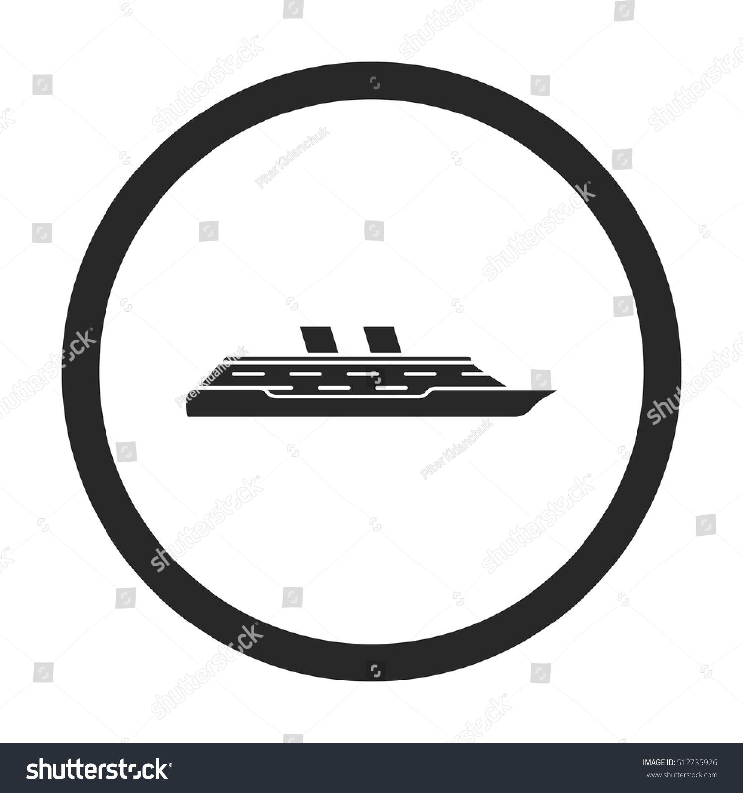 Cruise ship profile sign silhouette symbol stock vector 512735926 cruise ship profile sign silhouette symbol icon on background buycottarizona