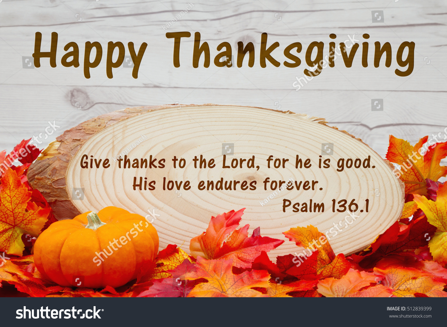Happy Thanksgiving Message Some Fall Leaves Stock Photo Edit Now