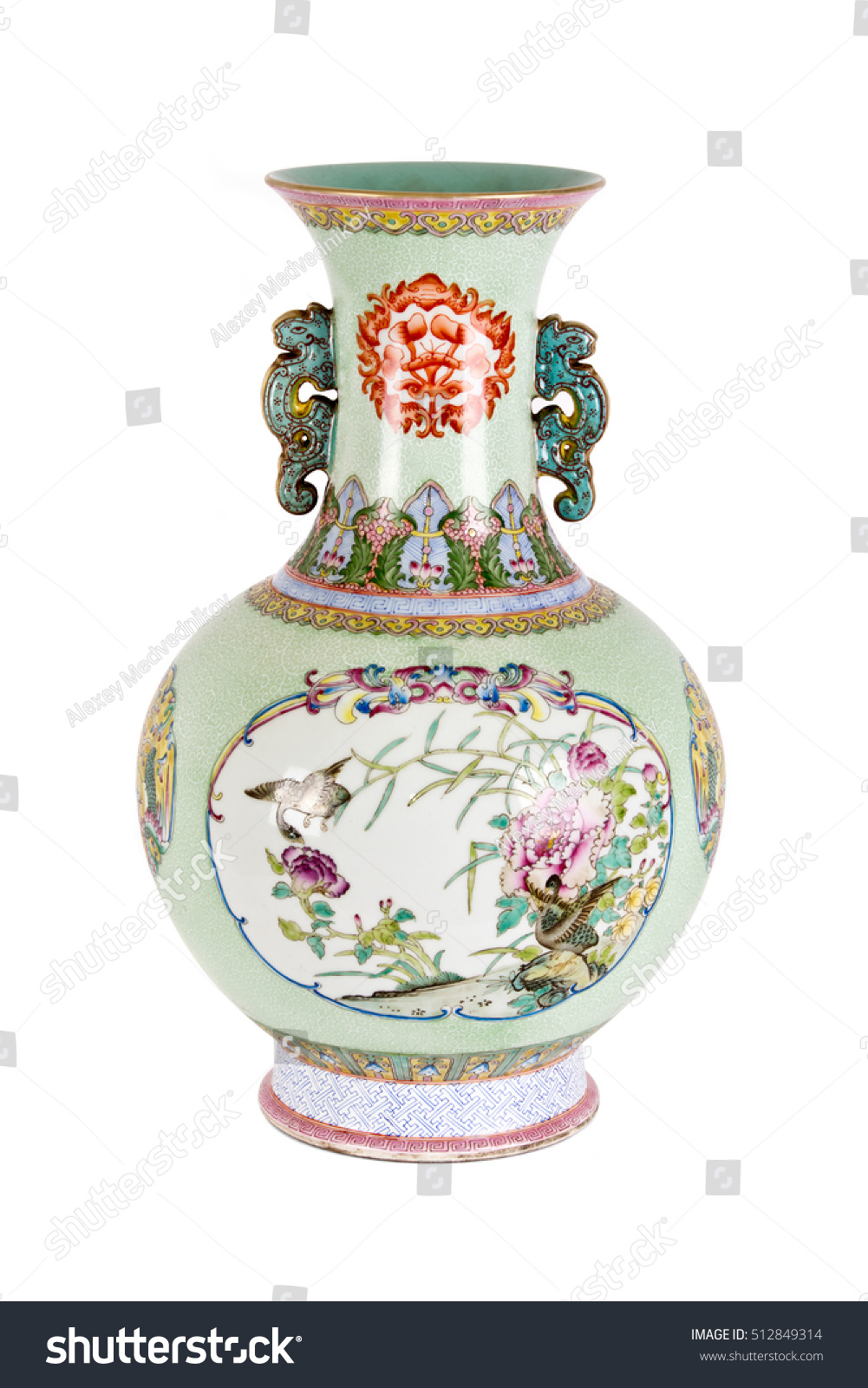 Vintage oriental vase on white background stock photo 512849314 vintage oriental vase on white background reviewsmspy