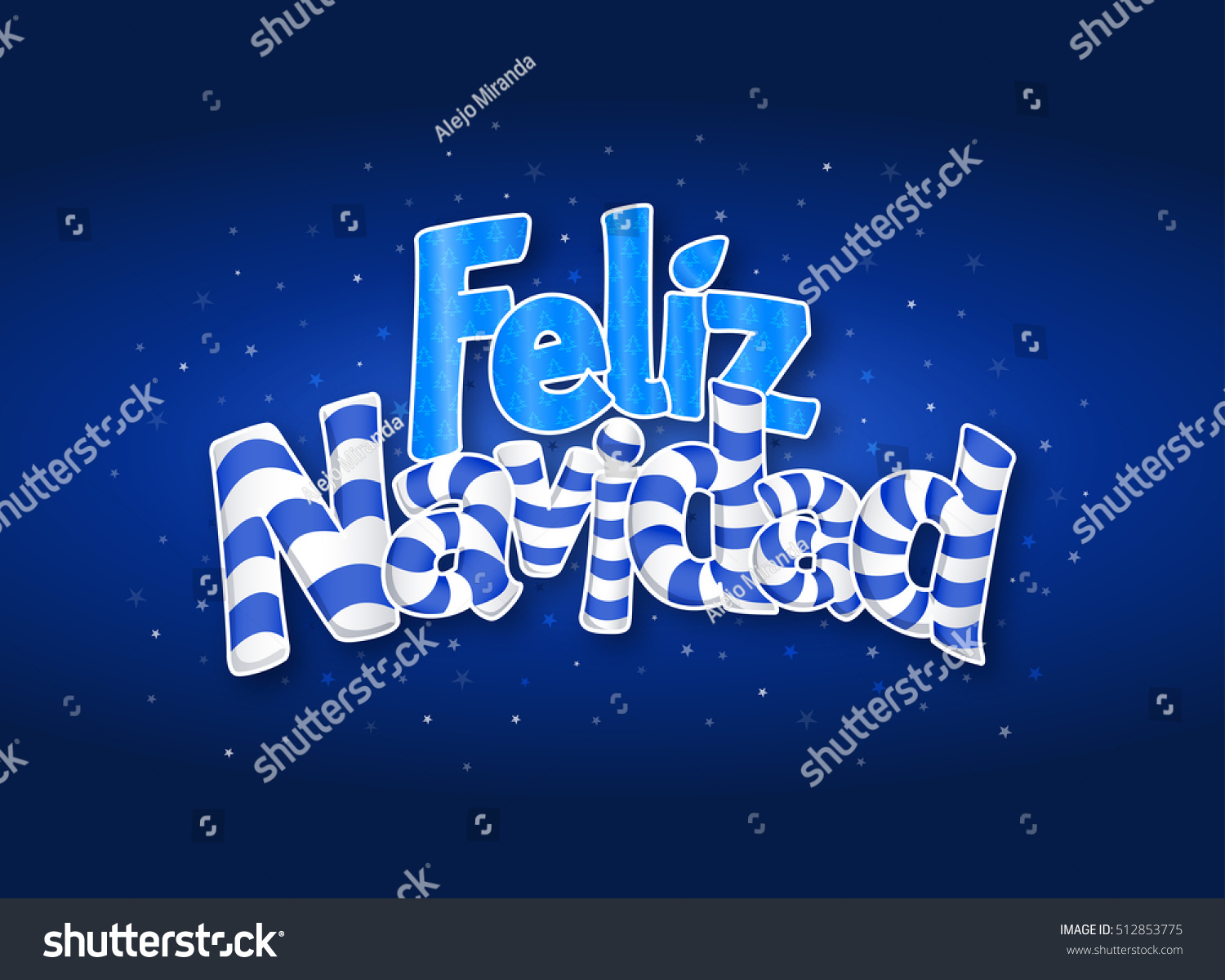 Feliz navidad merry christmas spanish language stock vector feliz navidad merry christmas in spanish language blue cover of greeting card with stars m4hsunfo