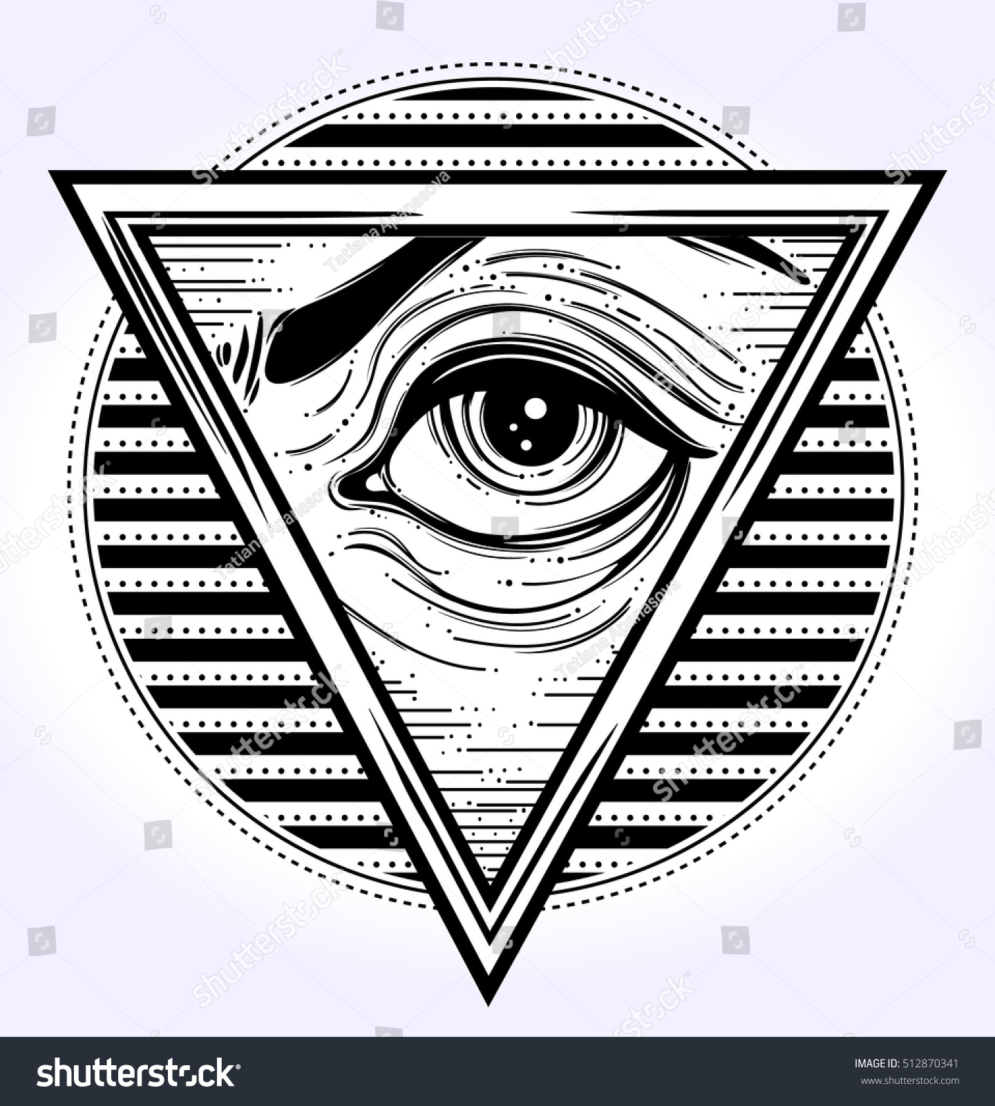 Allseeing Eye On Traingle All Seeing Stock Vector Royalty Free