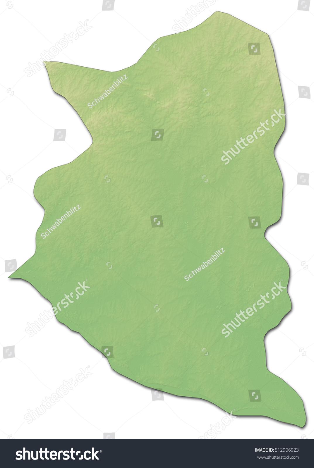 Relief Map San Jose Uruguay Drendering Stock Illustration - Uruguay relief map