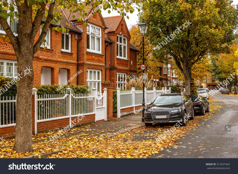 Chiswick Suburb Street Autumn London England Stock Photo Edit Now