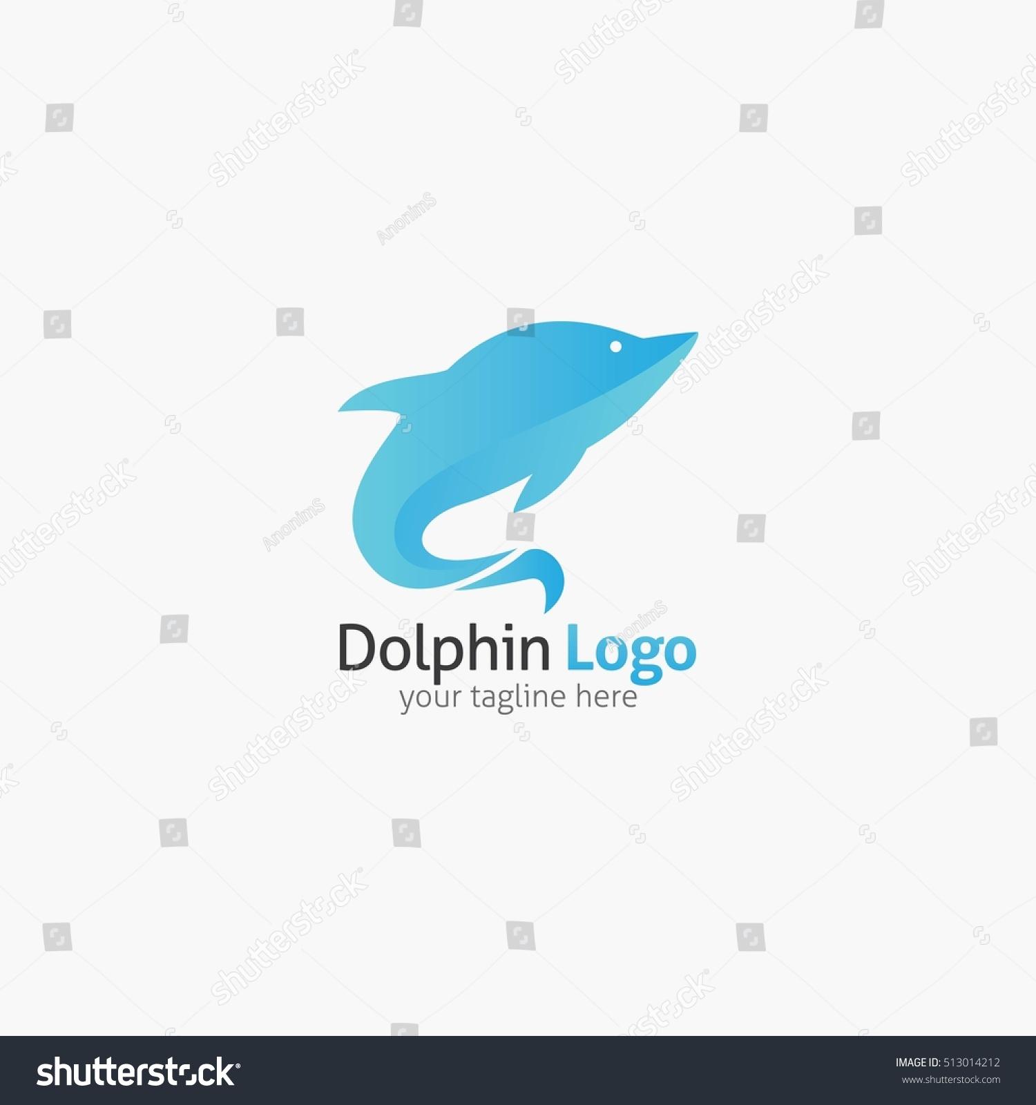 Dolphin Logo Emblem Design Template Stock Vector (Royalty Free ...