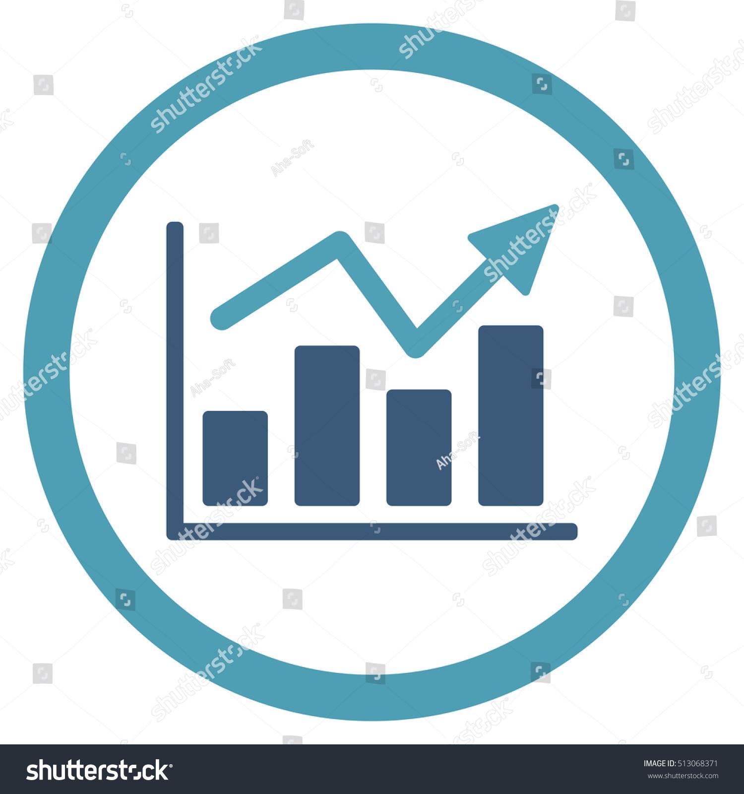 bar chart trend rounded icon glyph stock illustration 513068371 rh shutterstock com