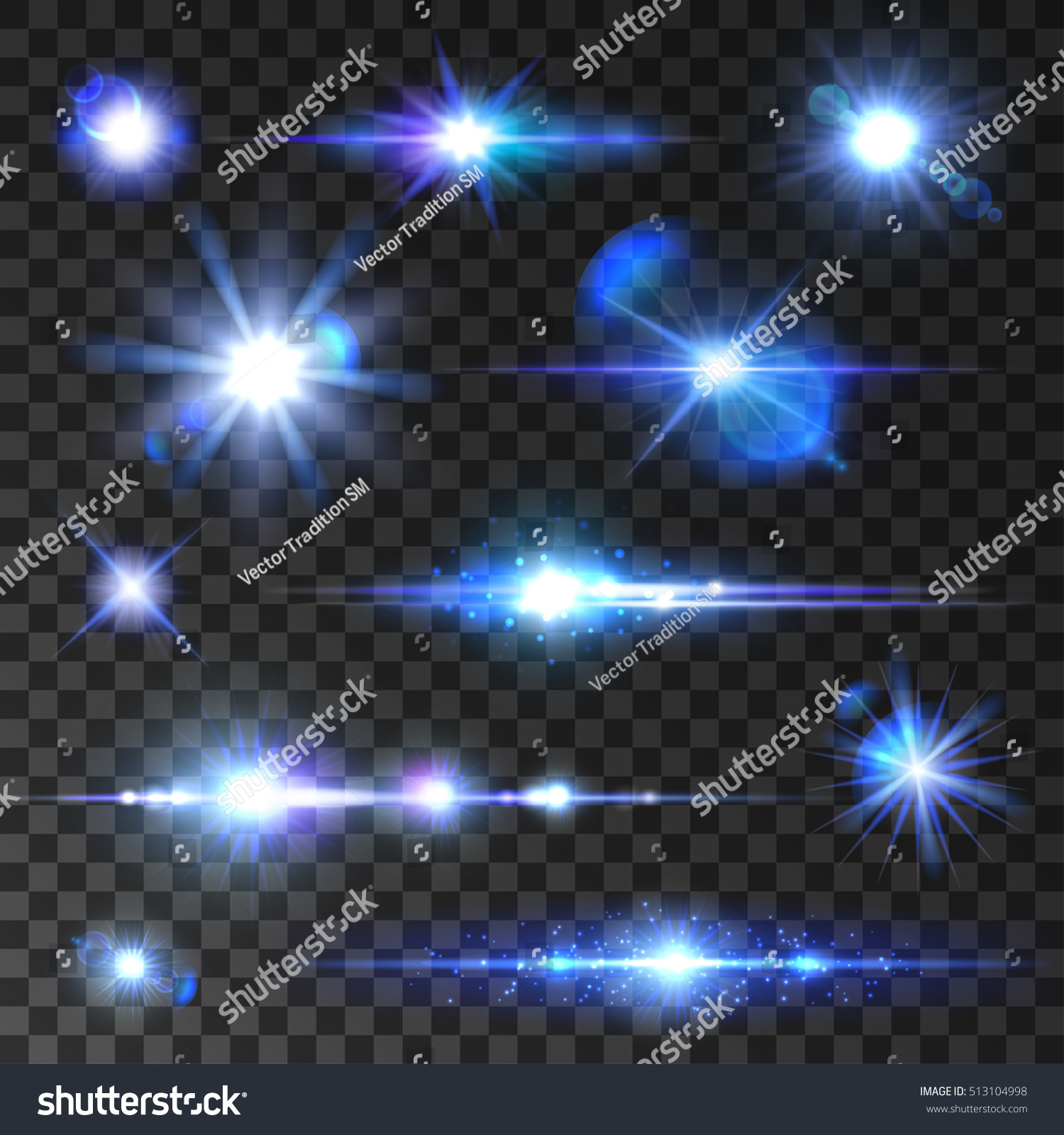 Star Shine Set Shining Stars Glittering Stock Vector 513104998 ...