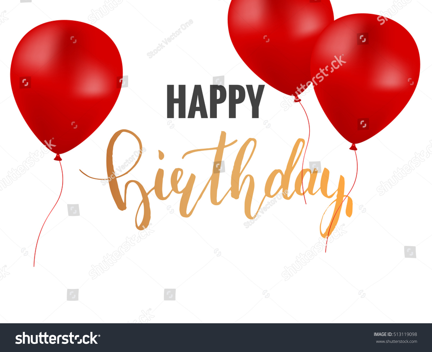 Happy Birthday Greeting Card Template Colorful Stock Vector ...