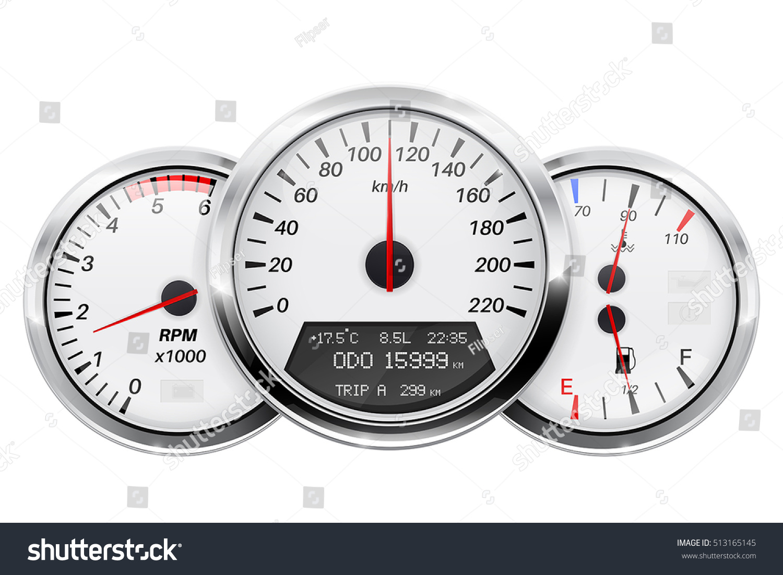 Speedometer Tachometer Fuel Temperature Gauge Car Stock Vector - Car signs on dashboardcar dashboard signs speedometer tachometer fuel and temperature