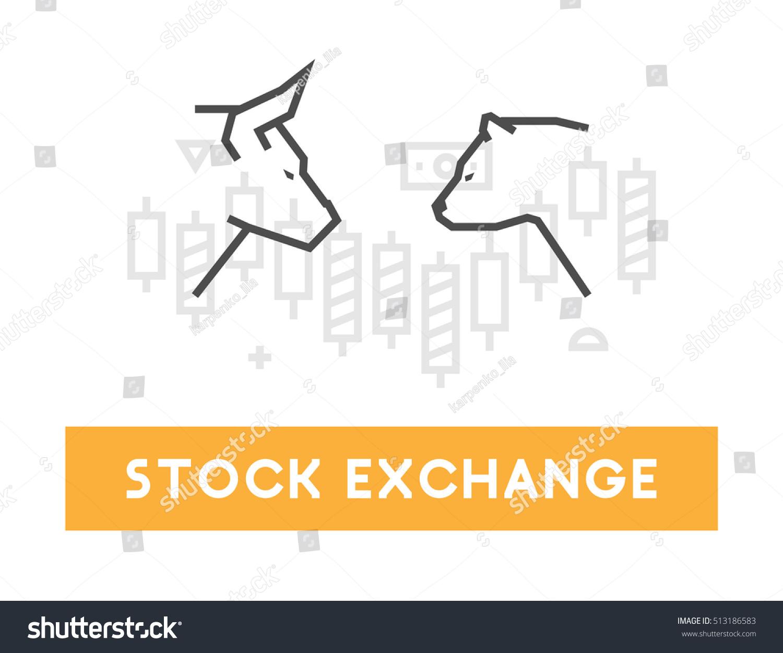 Vector symbol stock market stock exchange stock vector 513186583 vector symbol for stock market and stock exchange modern bull and bear icon for wall buycottarizona Image collections