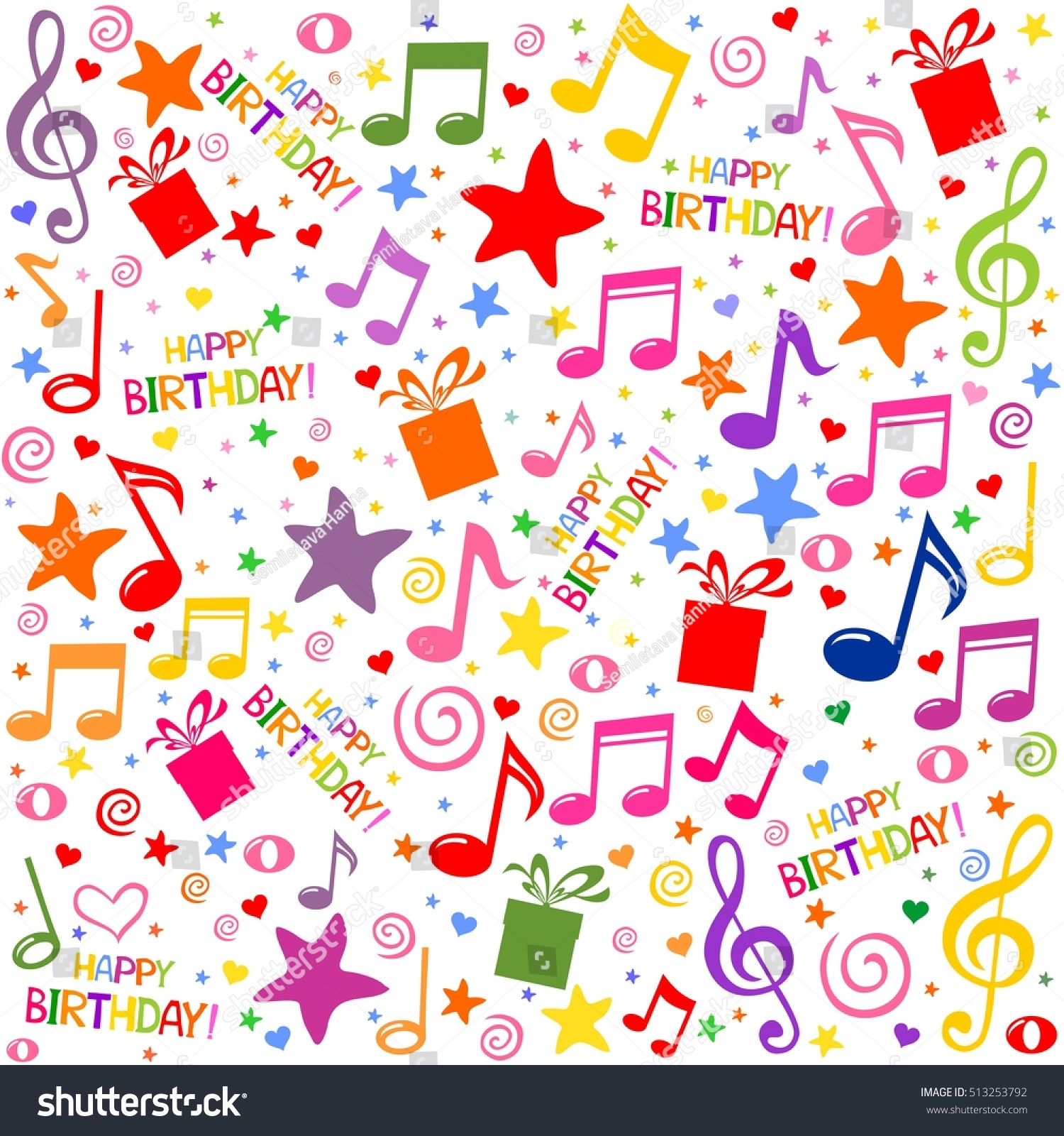 seamless pattern wallpaper musical notes gift stock vector hd