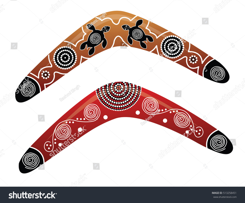 Australian boomerang vector 513258451 shutterstock for Australian boomerang template