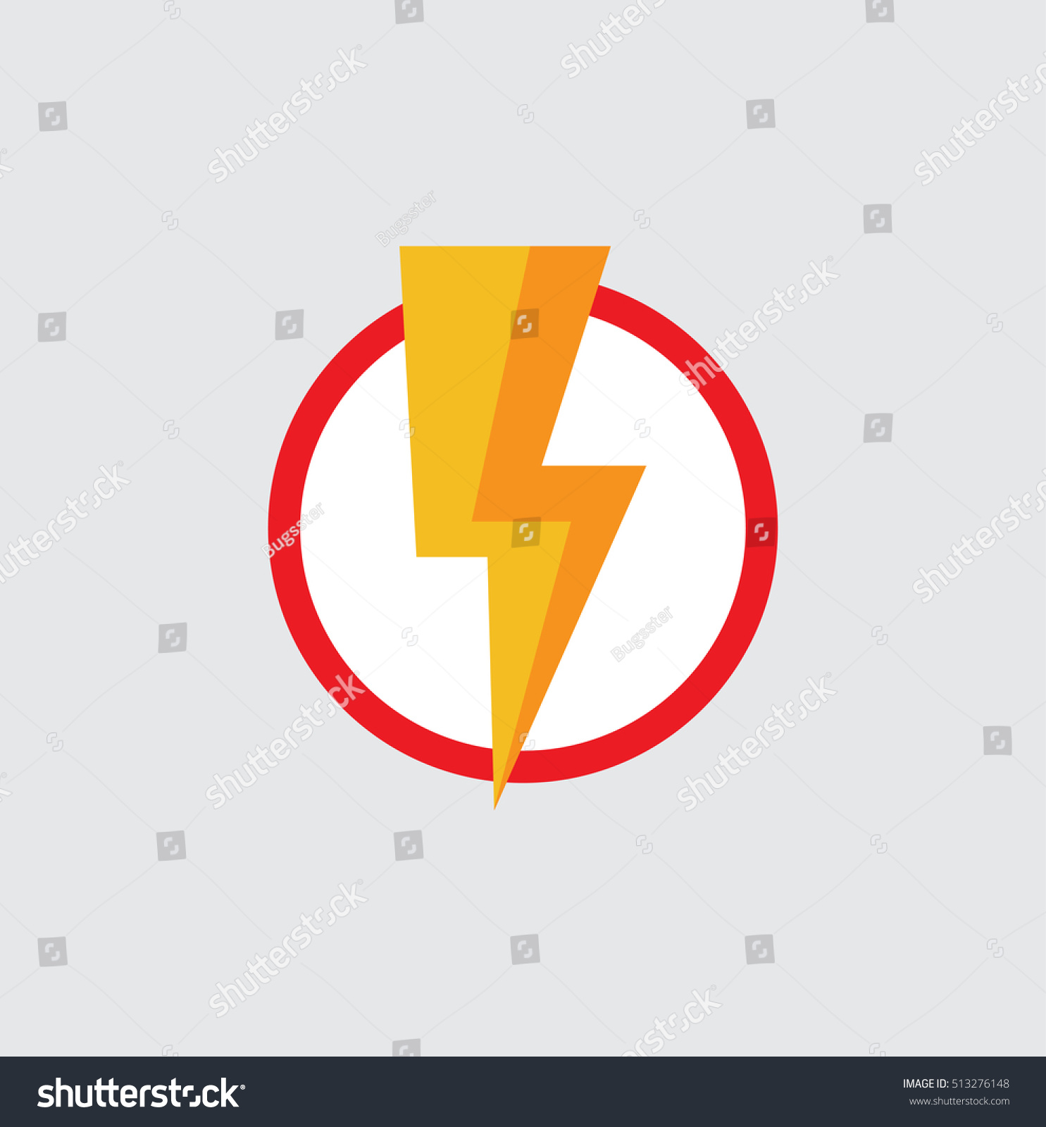 Flash vector icon flat superhero symbol stock vector 513276148 flat superhero symbol power symbol buycottarizona Image collections