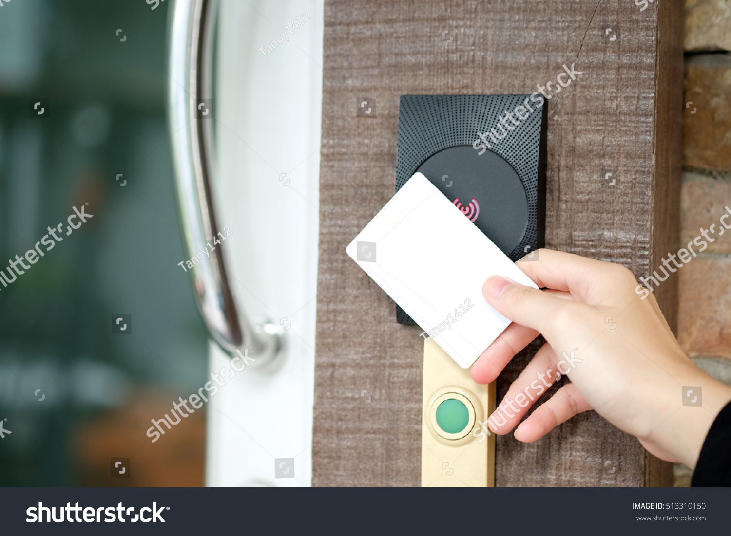 Electronic key access system woman hand stock photo for Door unlock service