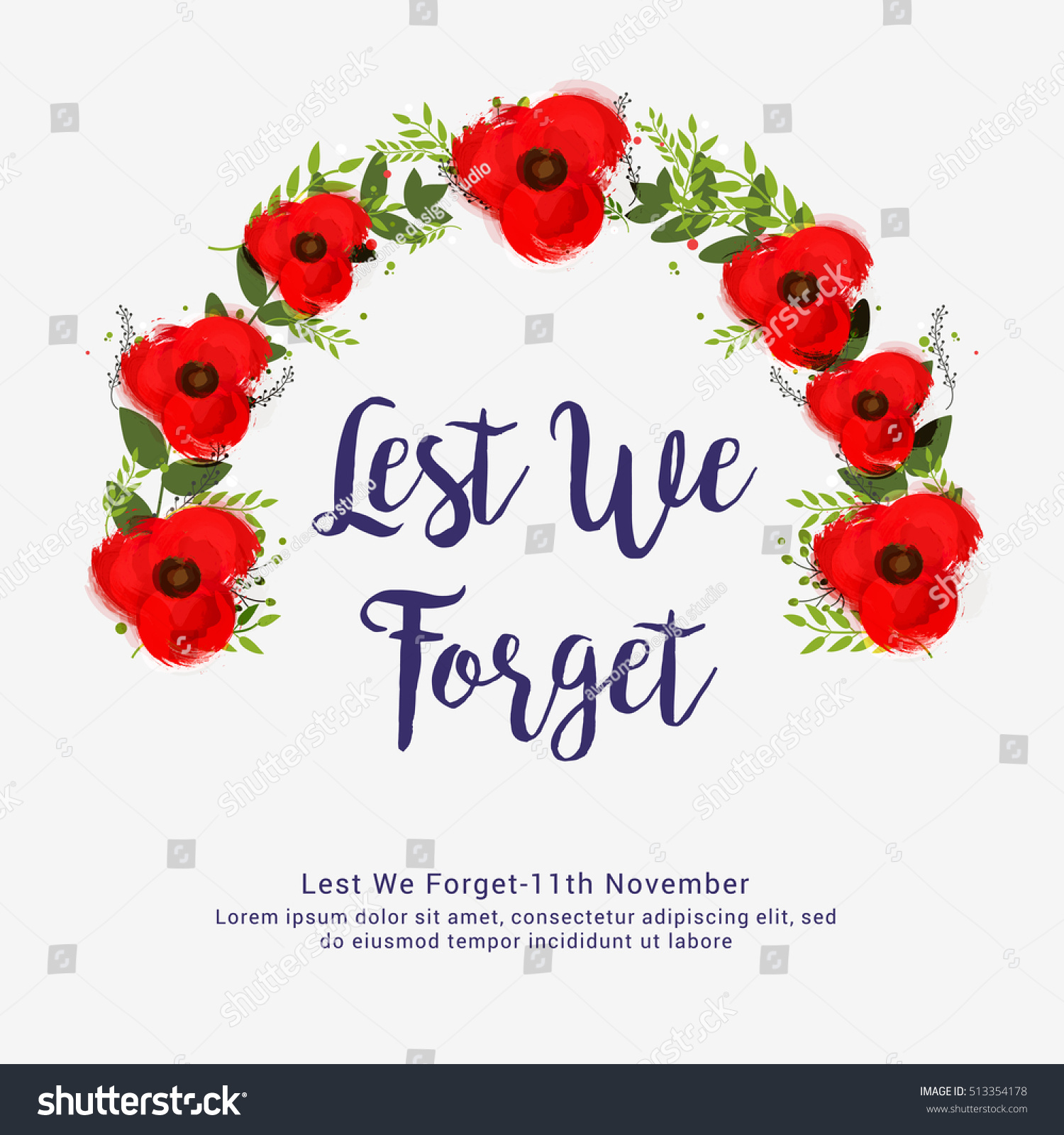 Creative Illustrationposter Banner Remembrance Day Canada