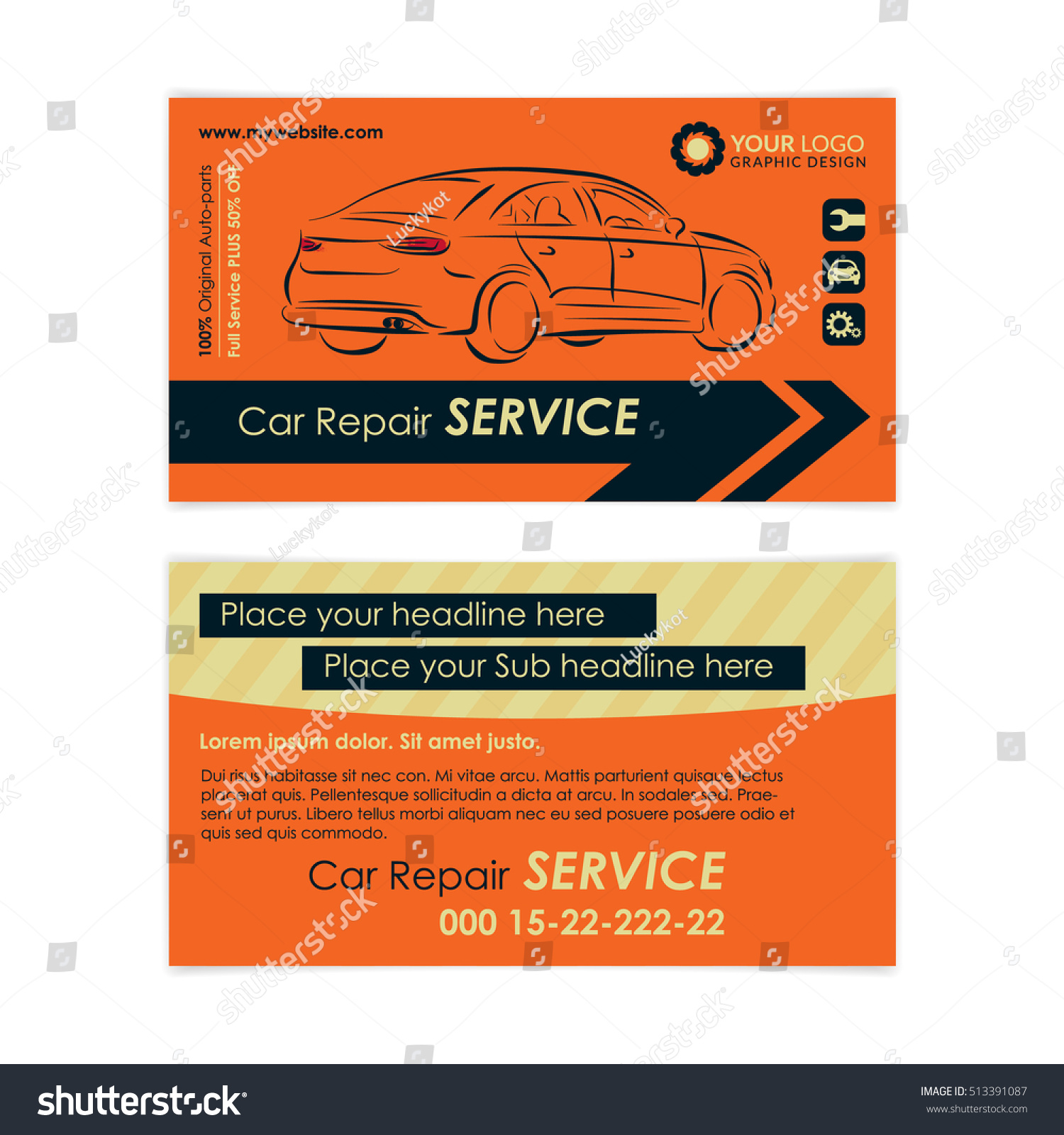 Lovely Gallery Of Auto Repair Business Card - Business Cards and ...
