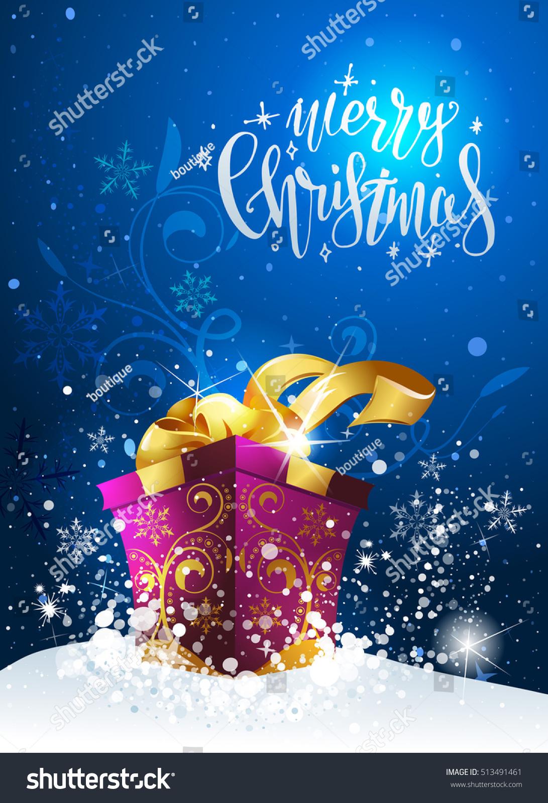 Christmas Greeting Postcard Stock Illustration 513491461 Shutterstock