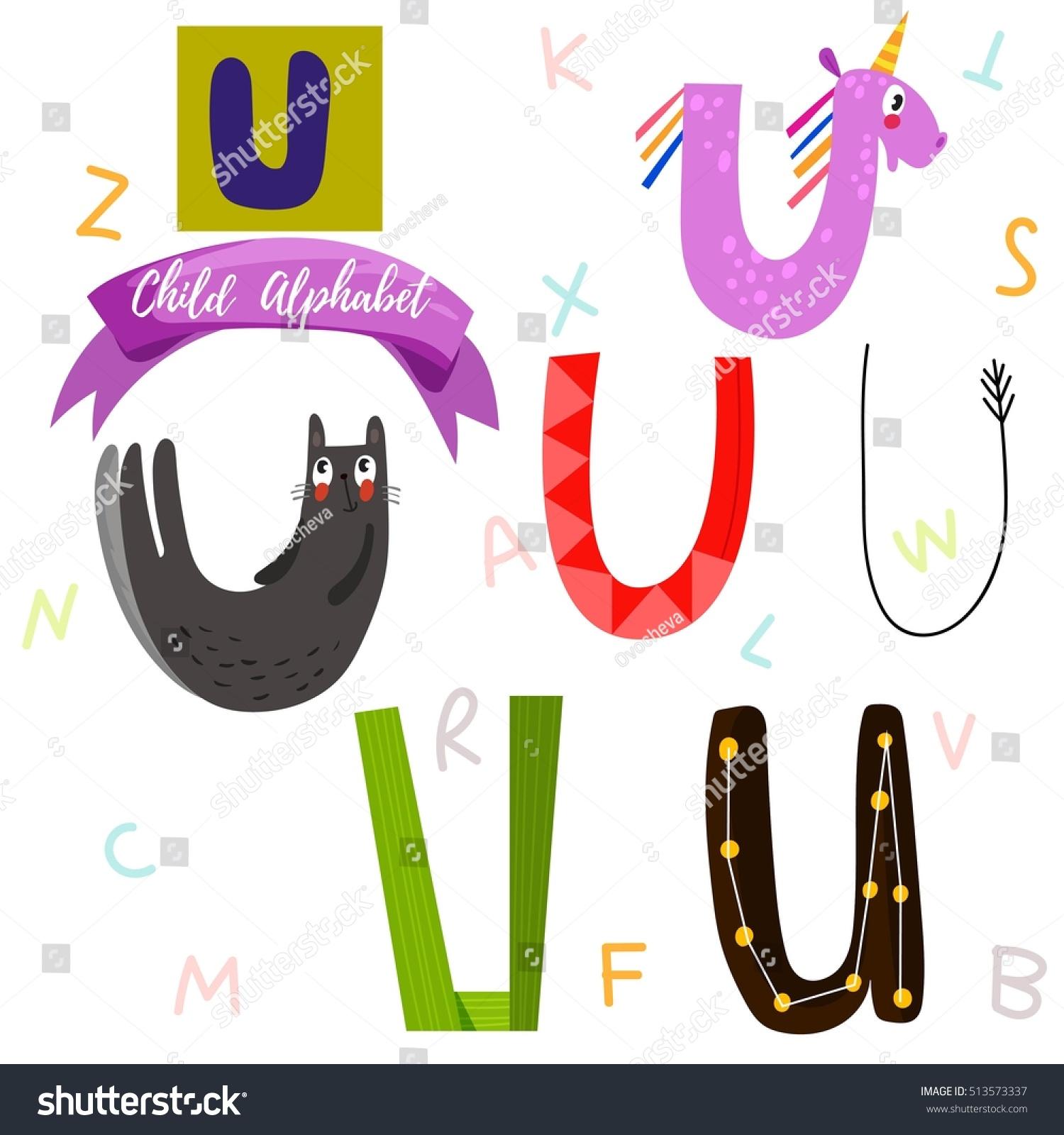 2019 year lifestyle- Fonts stylish letter u
