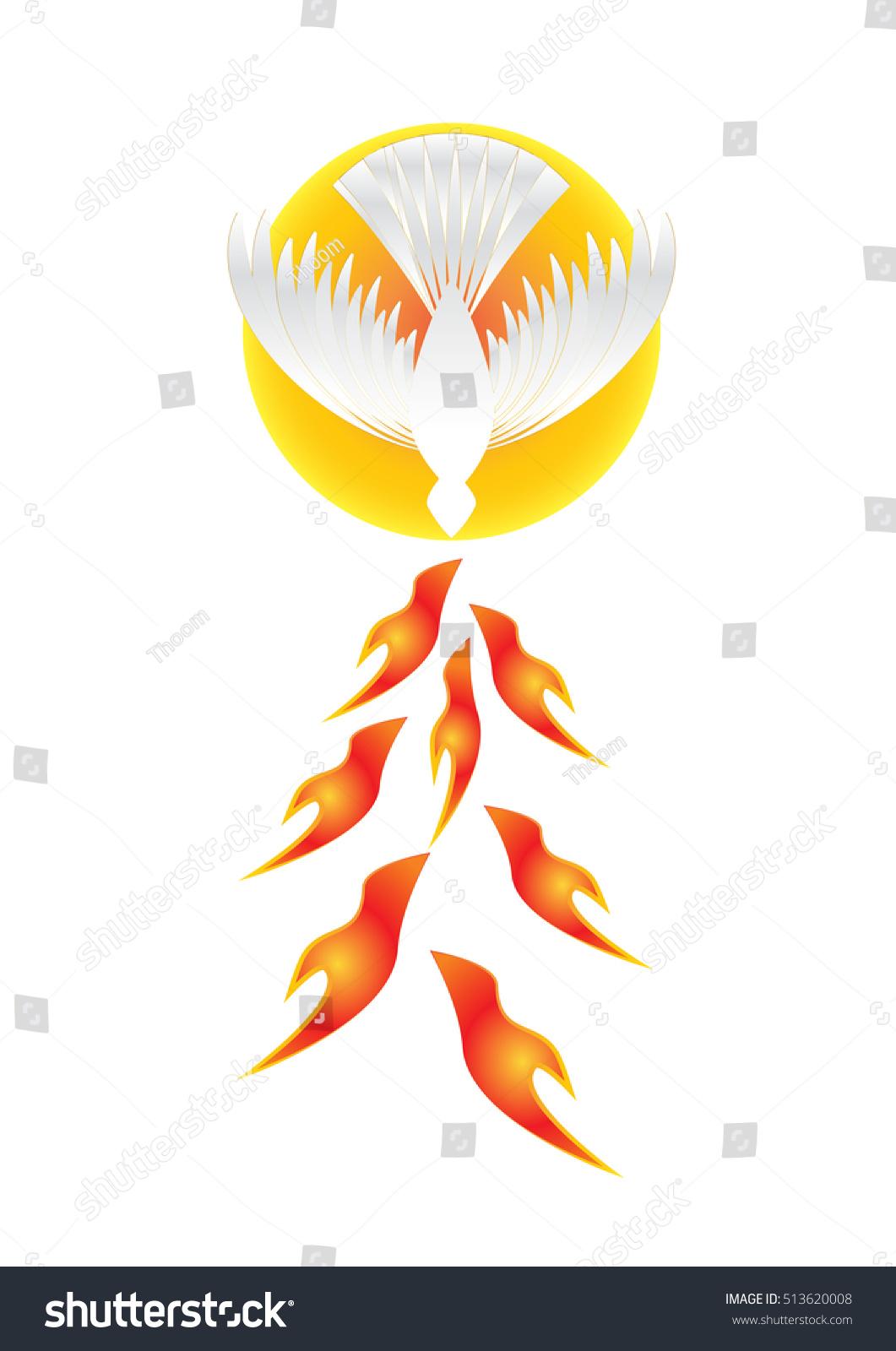 Holy spirit symbol white dove halo stock vector 513620008 holy spirit symbol a white dove with halo of light rays and seven rays biocorpaavc