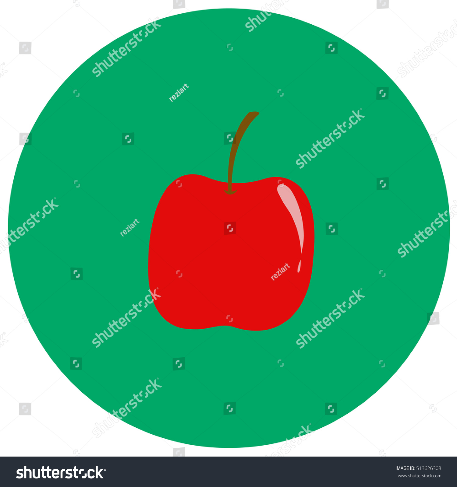 Apple cute icon trendy flat style stock vector 513626308 apple cute icon in trendy flat style isolated on color background thanksgiving symbol for your buycottarizona