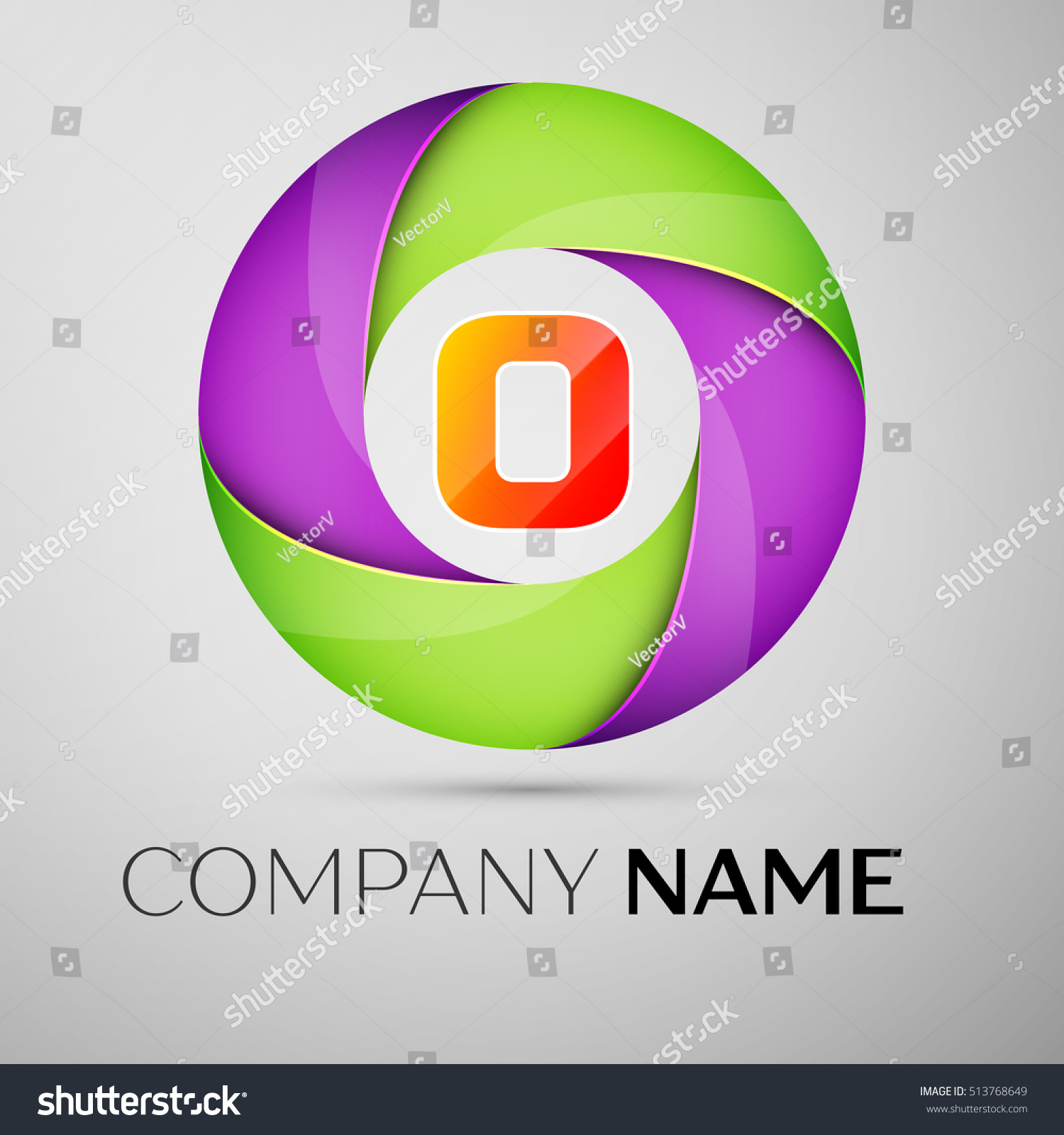 Letter o vector logo symbol colorful stock vector 513768649 letter o vector logo symbol in the colorful circle vector template for your design buycottarizona