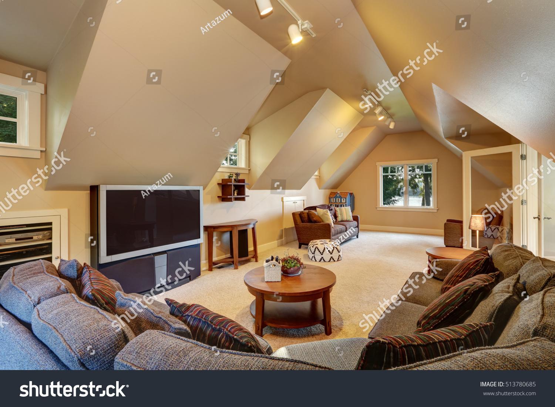 Upstairs Living Room Interior Luxury House Stock Photo (Edit Now) 513780685