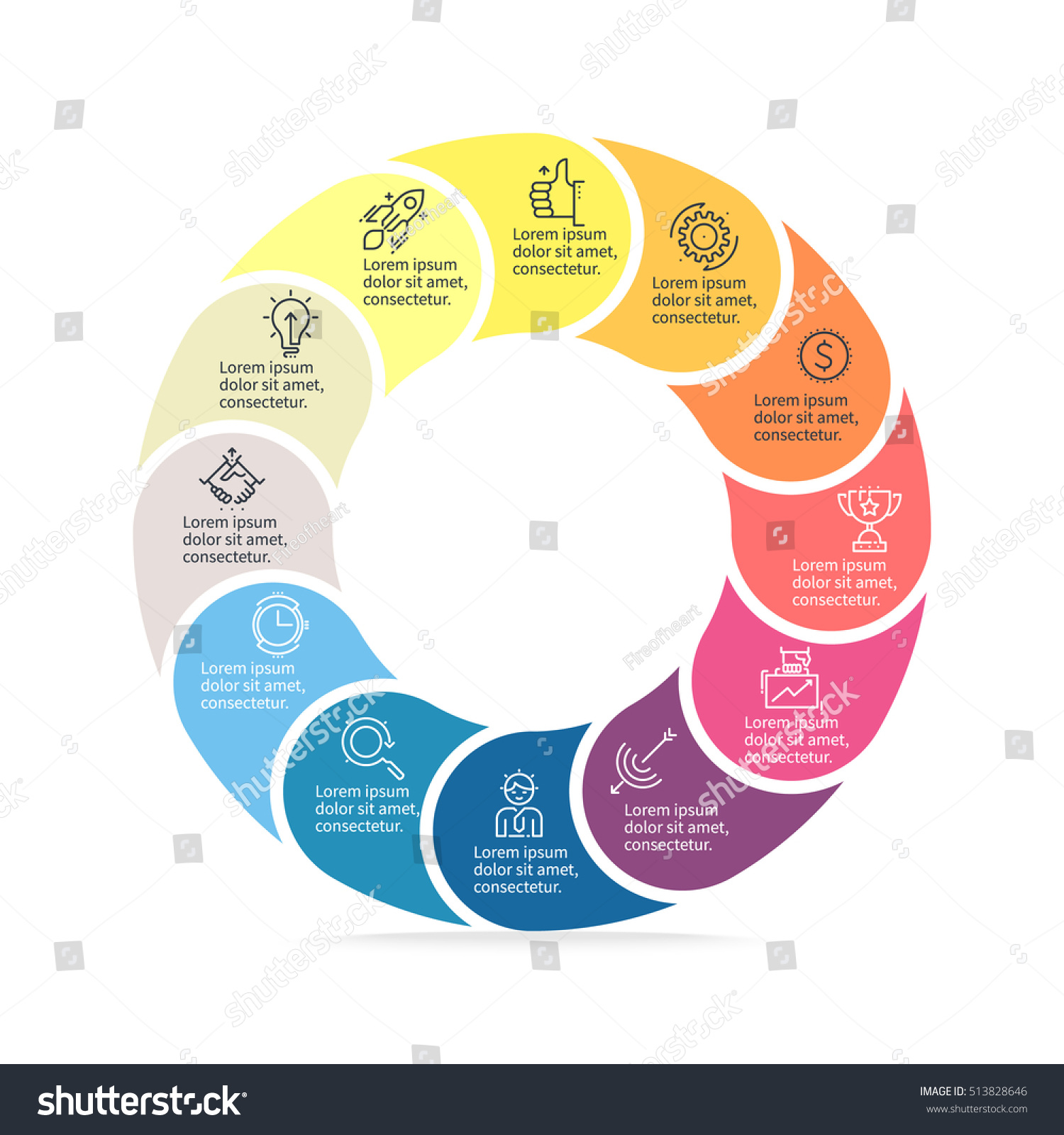 Business infographics circular infographic element 12 stock vector circular infographic element with 12 steps parts vector pie chart nvjuhfo Gallery