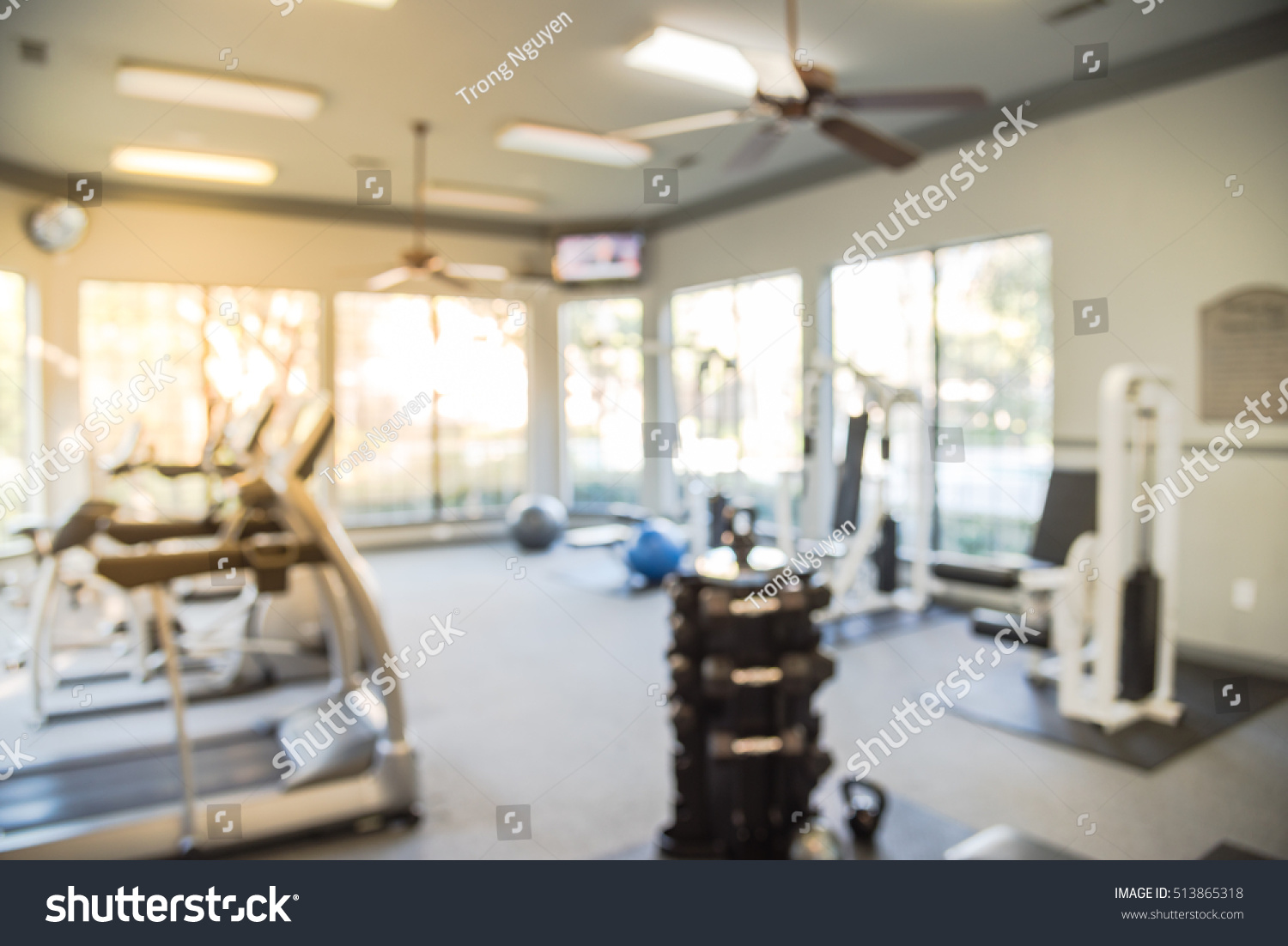 Blurred Image Fitness Center Cardio Machines Stock Photo Edit Now
