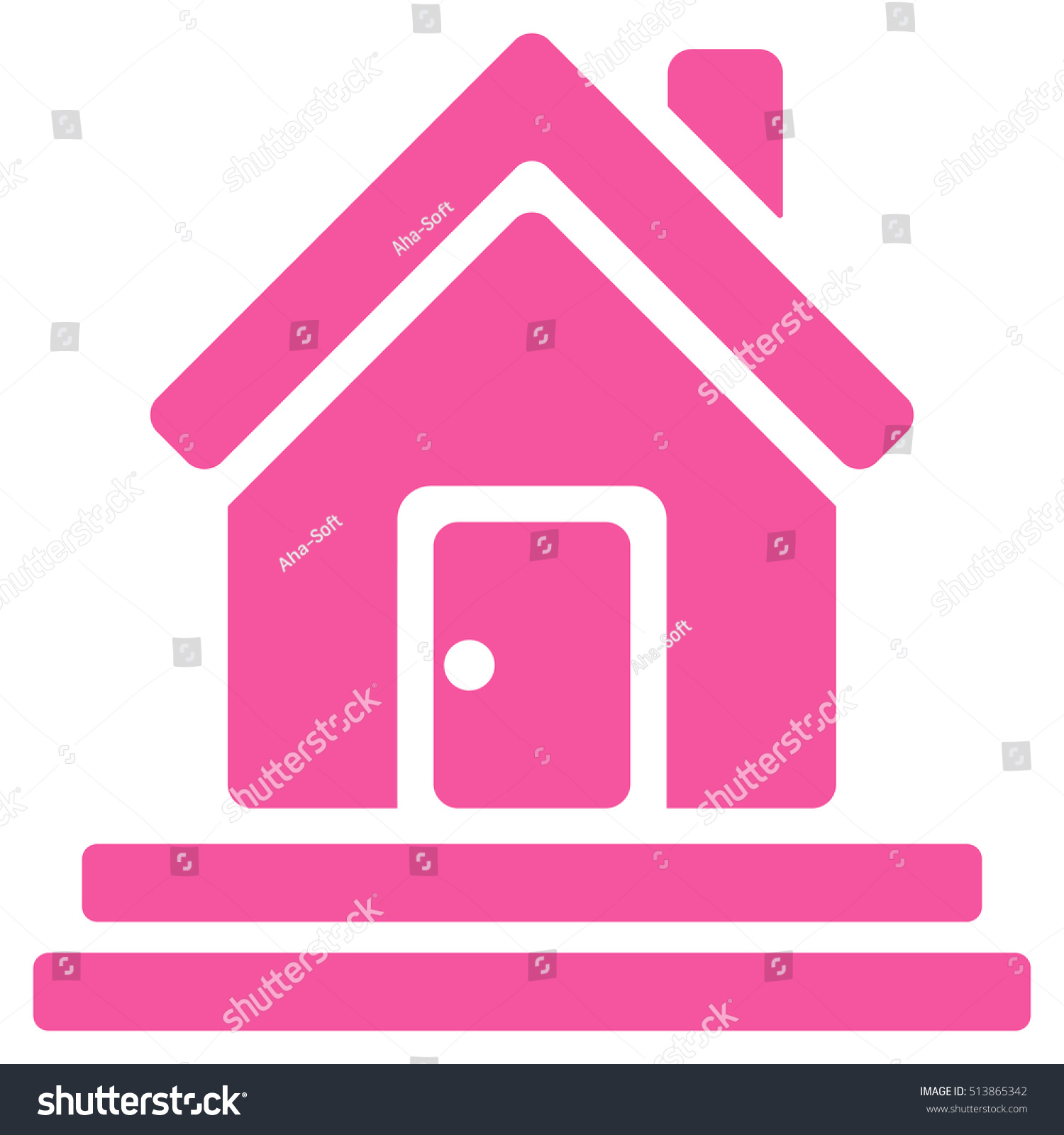 House Front Door Icon Glyph Style Stock Illustration 513865342 ...