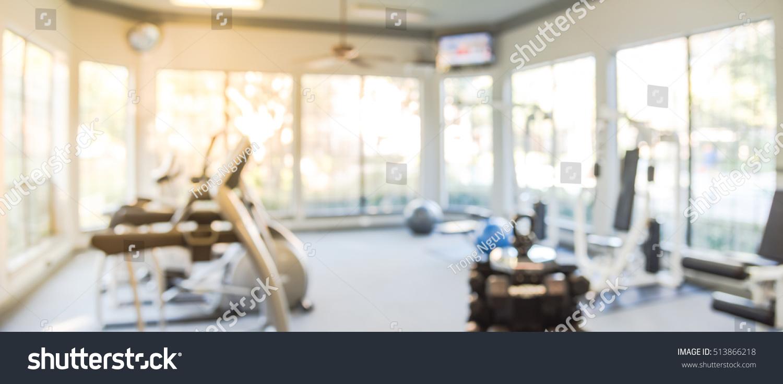 Blurred Fitness Center Cardio Machines Weight Stock Photo Edit