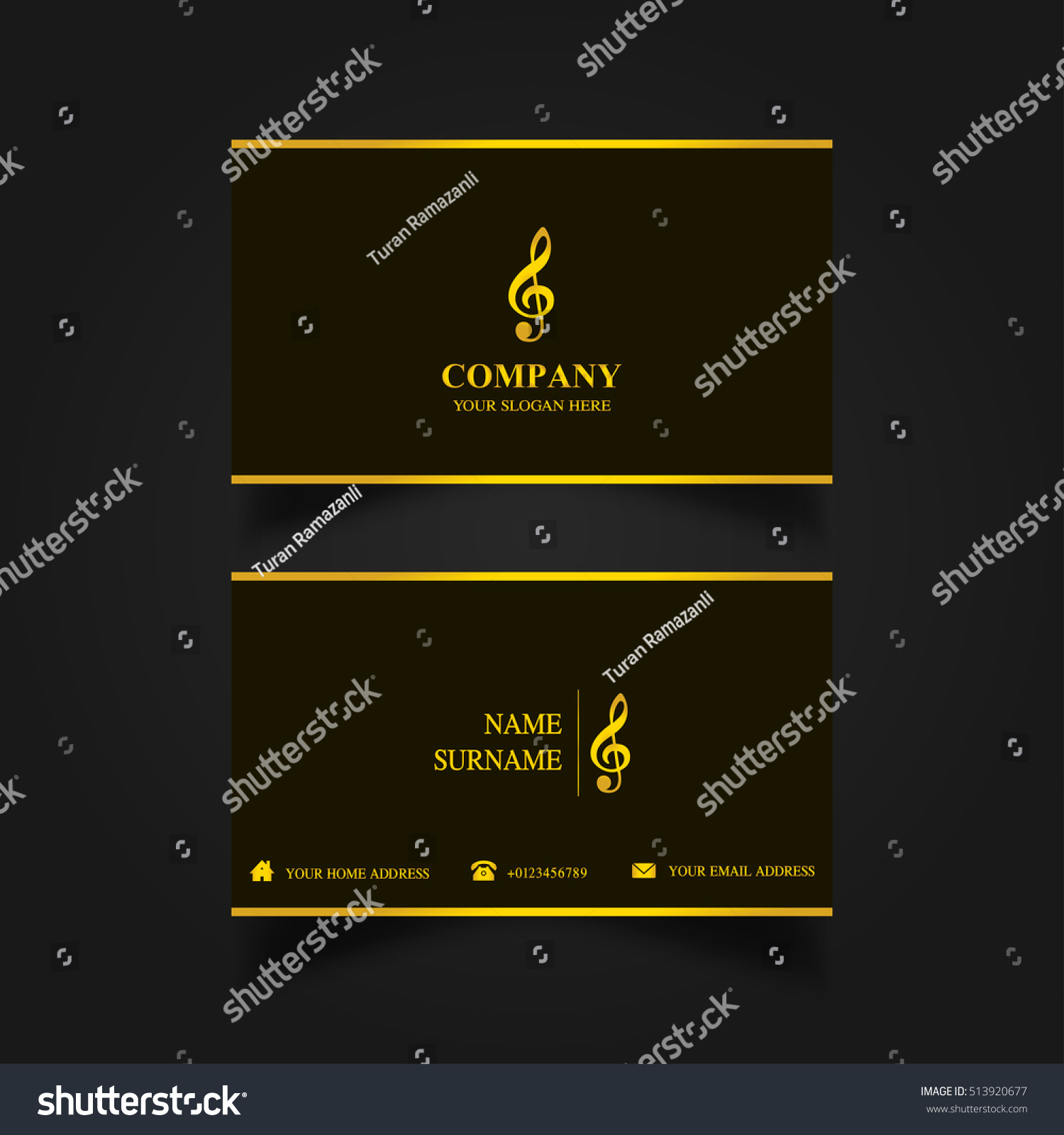 Music business card template stock vector 513920677 shutterstock music business card template magicingreecefo Images