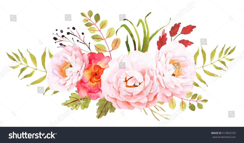 Flower Bohemian Bouquet Decorative Composition Wedding ...