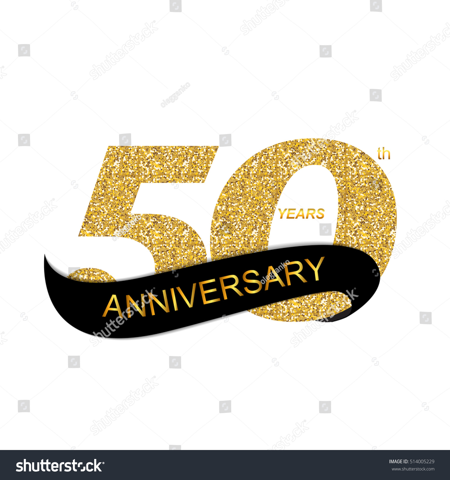 Template 50th Anniversary Illustration Stock Illustration
