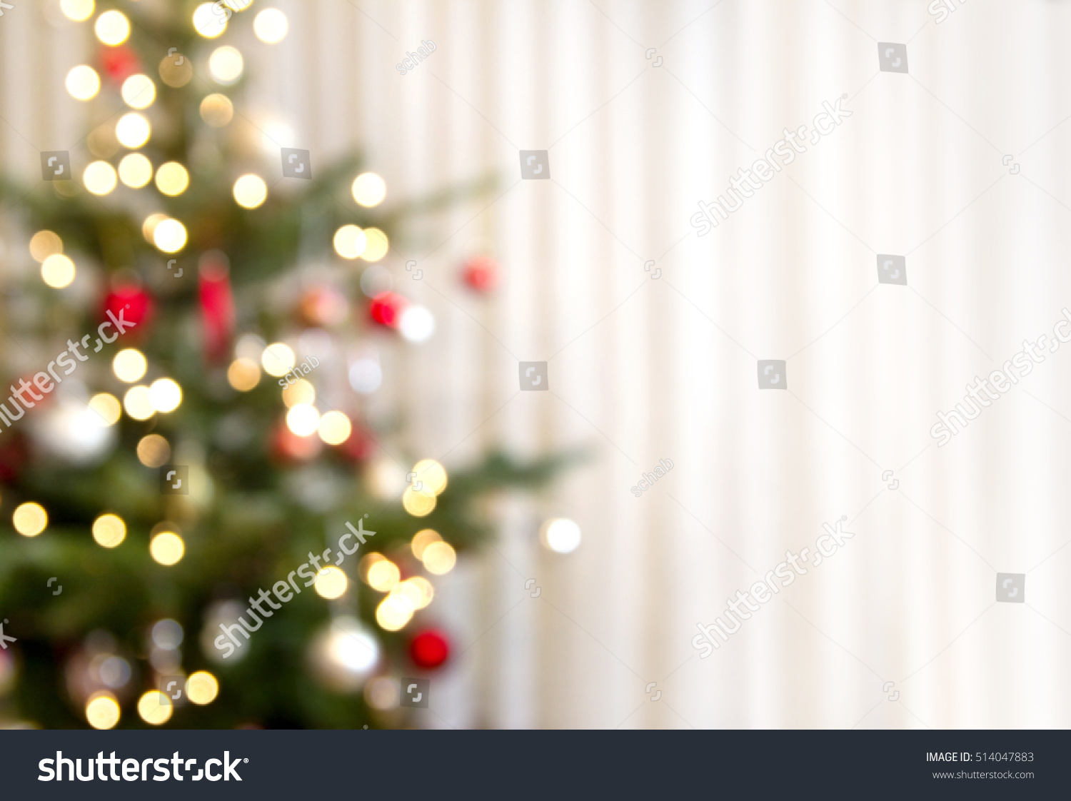 christmas background christmas tree out focus stock photo (royalty