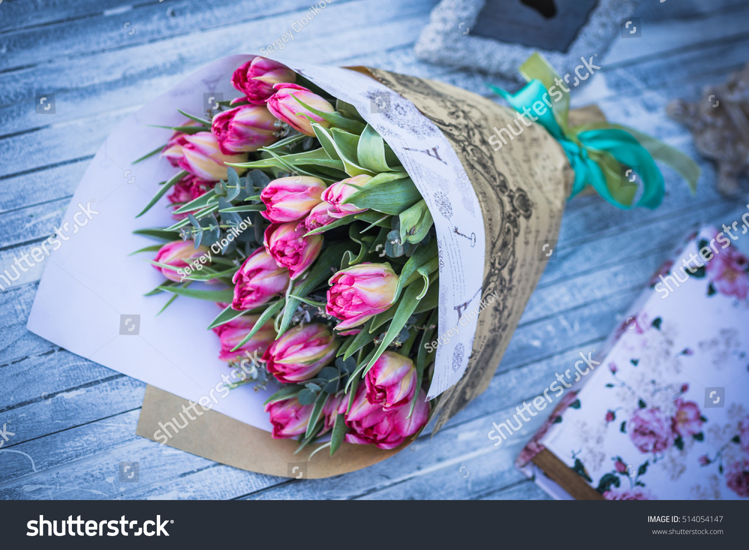 Flower Bouquet Love Day Valentine Marriage Stock Photo (Royalty Free ...