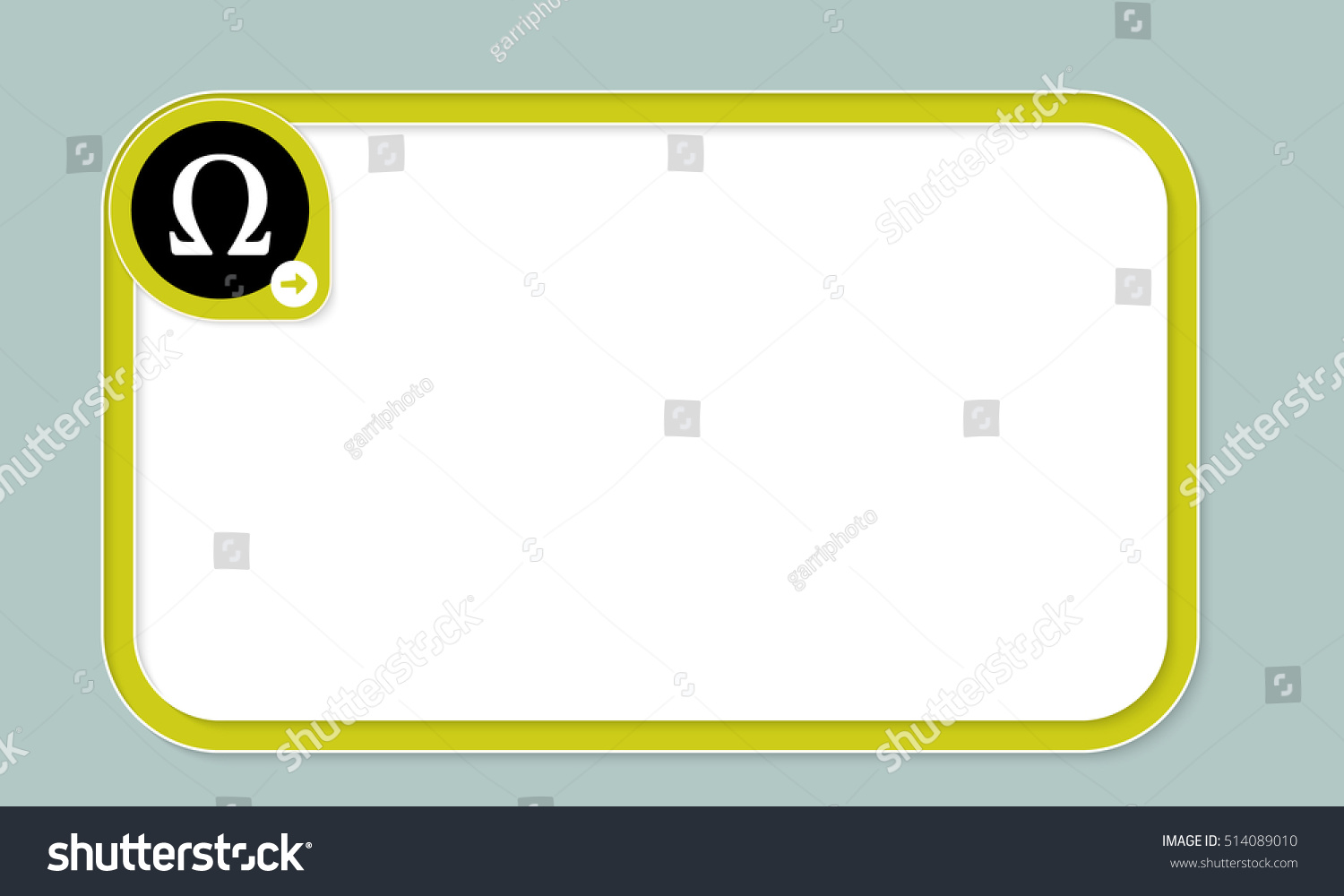 Green Text Frame Your Text Omega Stock Vector 514089010 Shutterstock