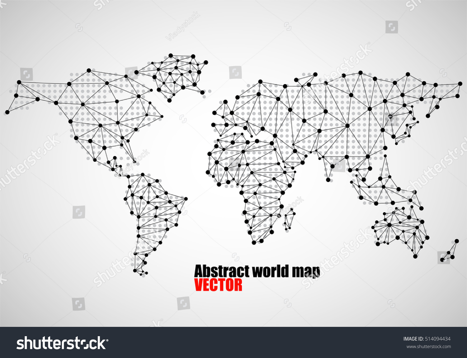 Abstract world map dots line vector stock vector royalty free abstract world map of dots and line vector illustration eps 10 gumiabroncs Images