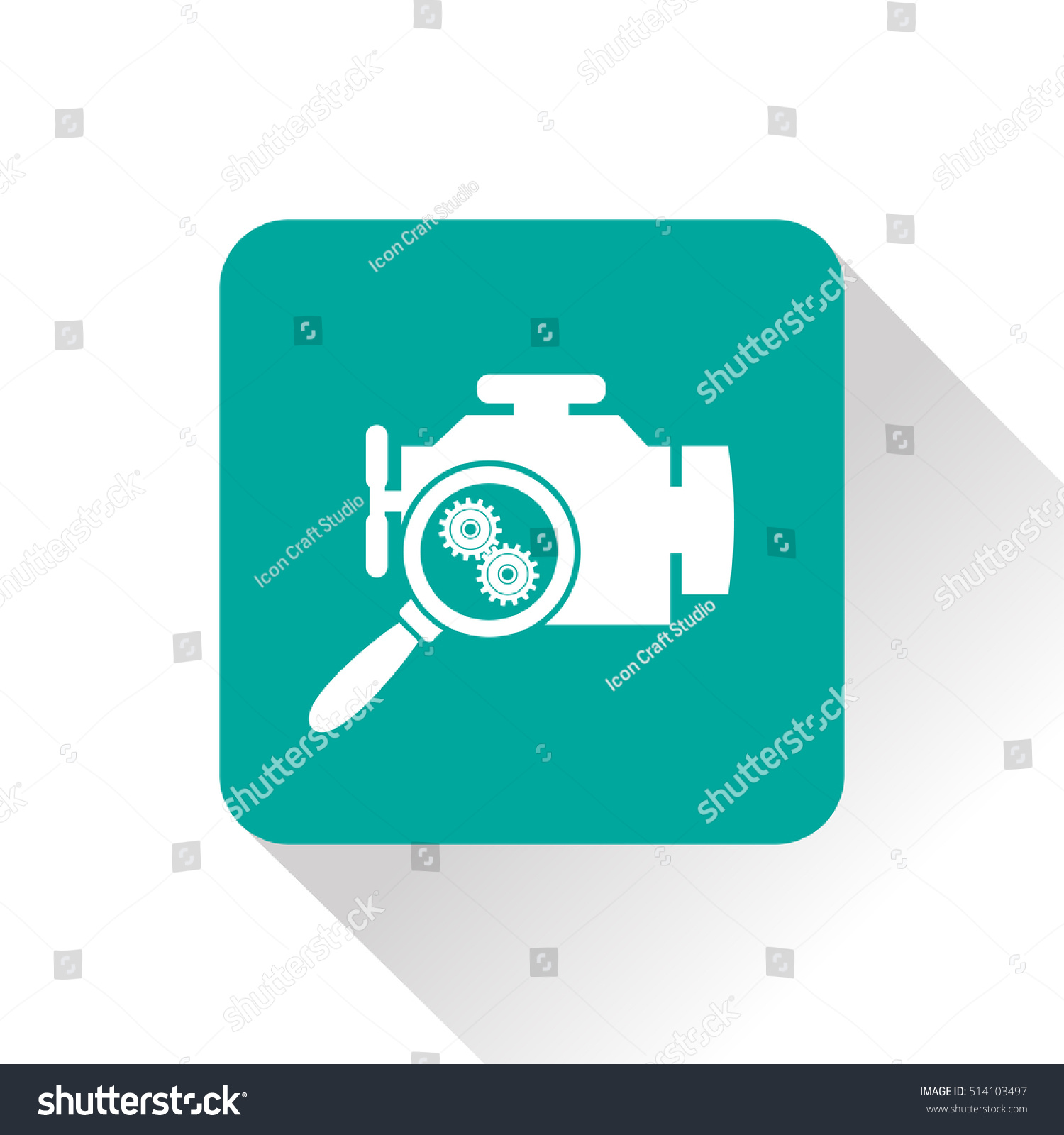 Car engine diagnostic repair flat icon stock vector 514103497 car engine diagnostic repair flat icon vector illustration biocorpaavc Gallery