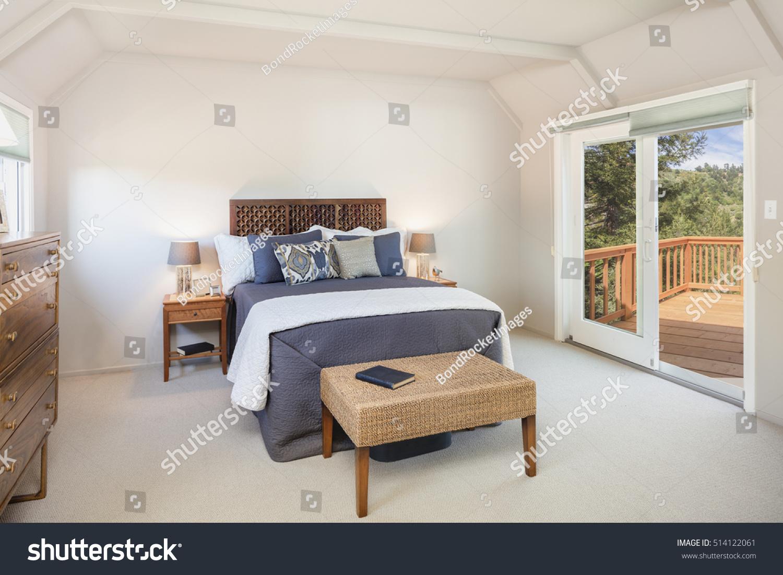 Traditional Bedroom Sliding Door Leading Wooden Stock Photo Edit Now 514122061