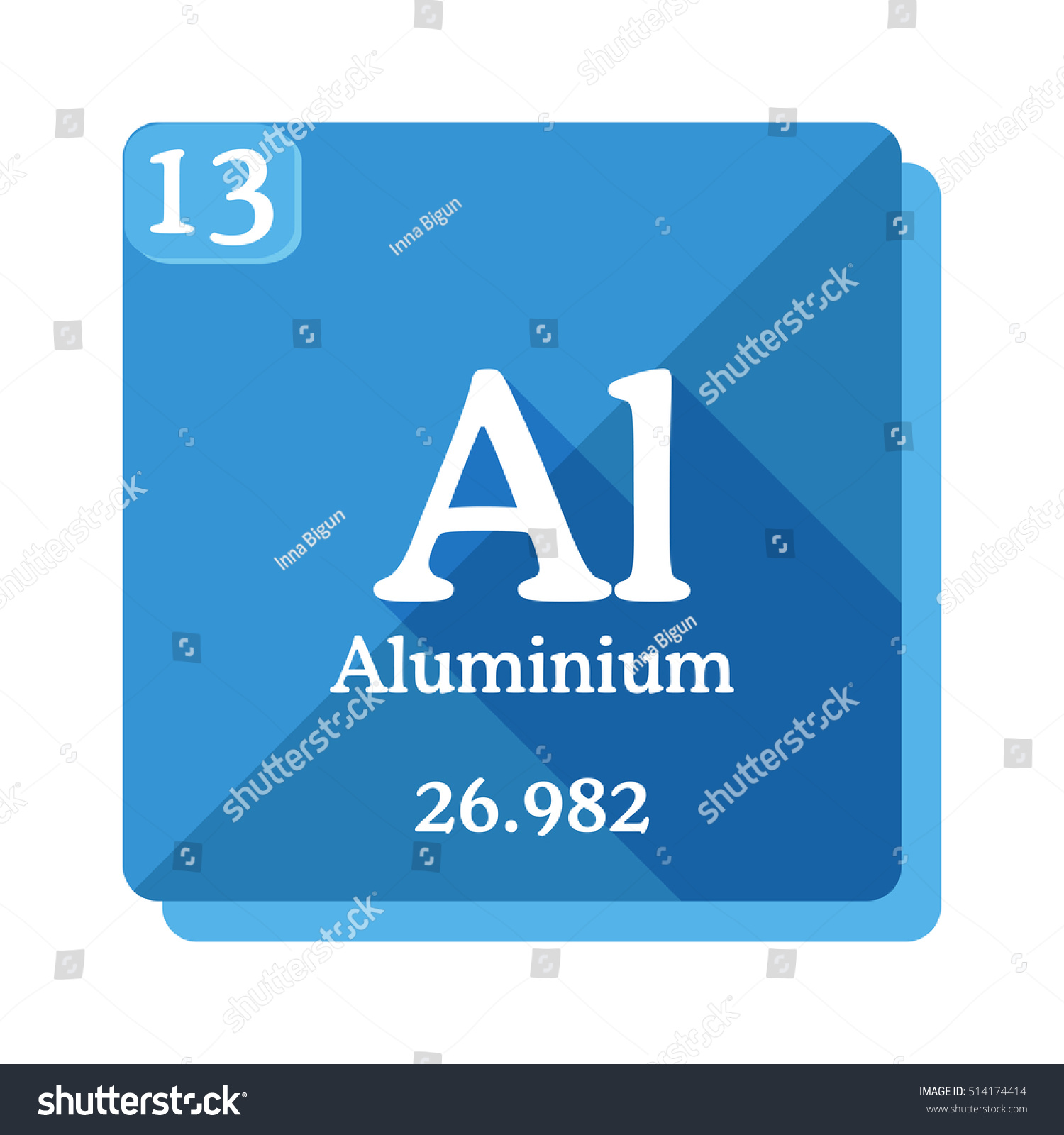 Aluminium al element periodic table vector stock vector 514174414 aluminium al element of the periodic table vector illustration in flat style gamestrikefo Image collections