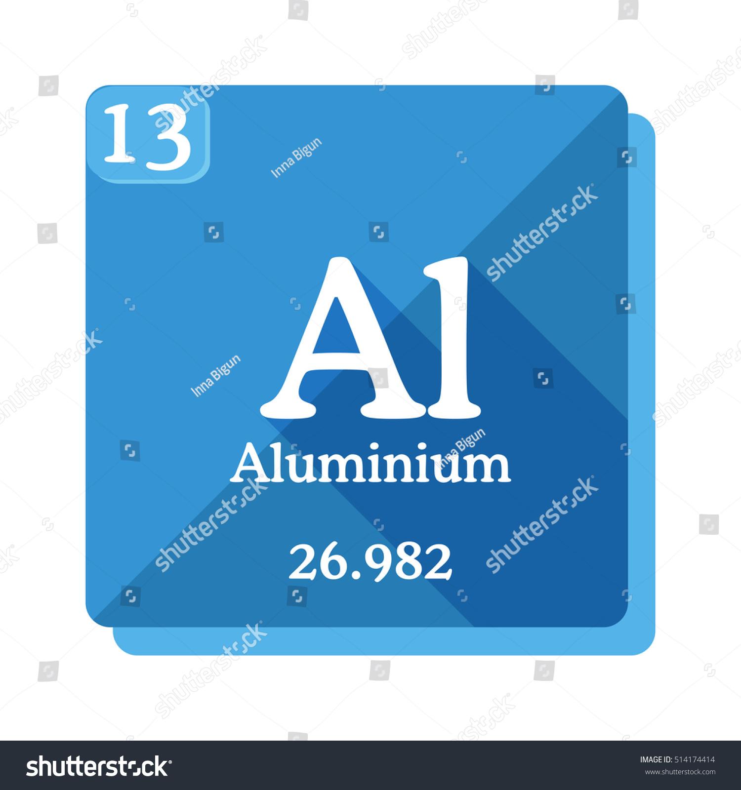 Aluminium al element periodic table vector stock vector 514174414 aluminium al element of the periodic table vector illustration in flat style gamestrikefo Choice Image