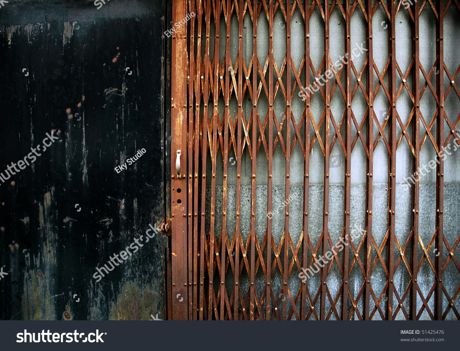 Rusty Metal Fence Stock Photo 51425476 Shutterstock