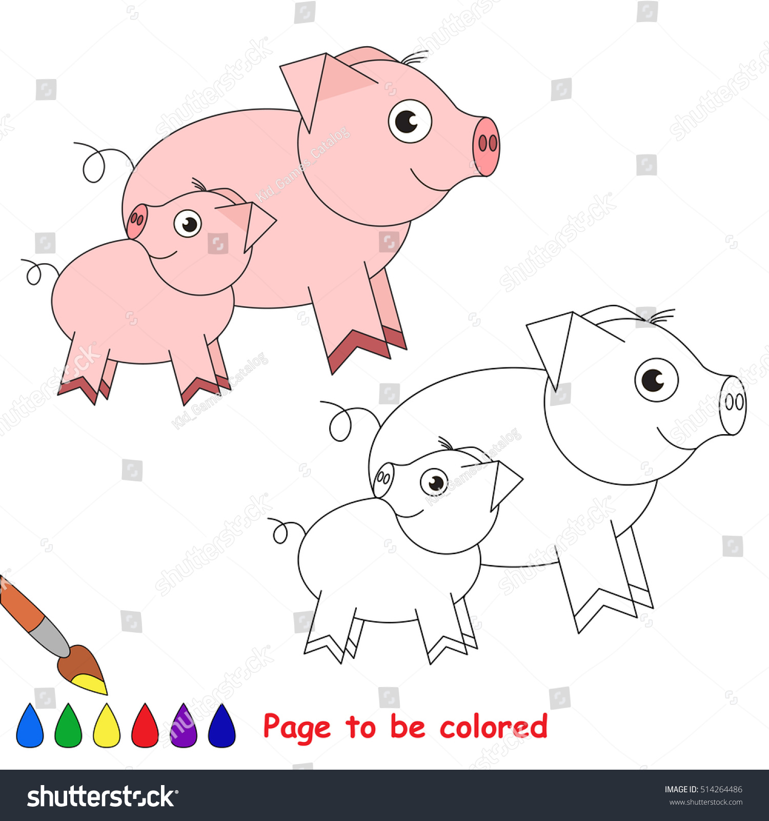 Pi Her Baby Be Colored Coloring Stock Vector (Royalty Free ...