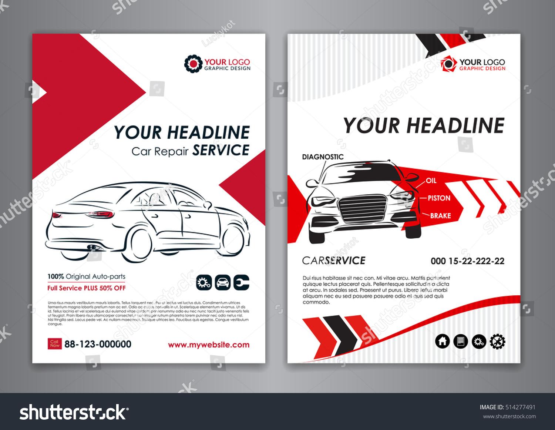 a 5 a 4 service car business layout のベクター画像素材