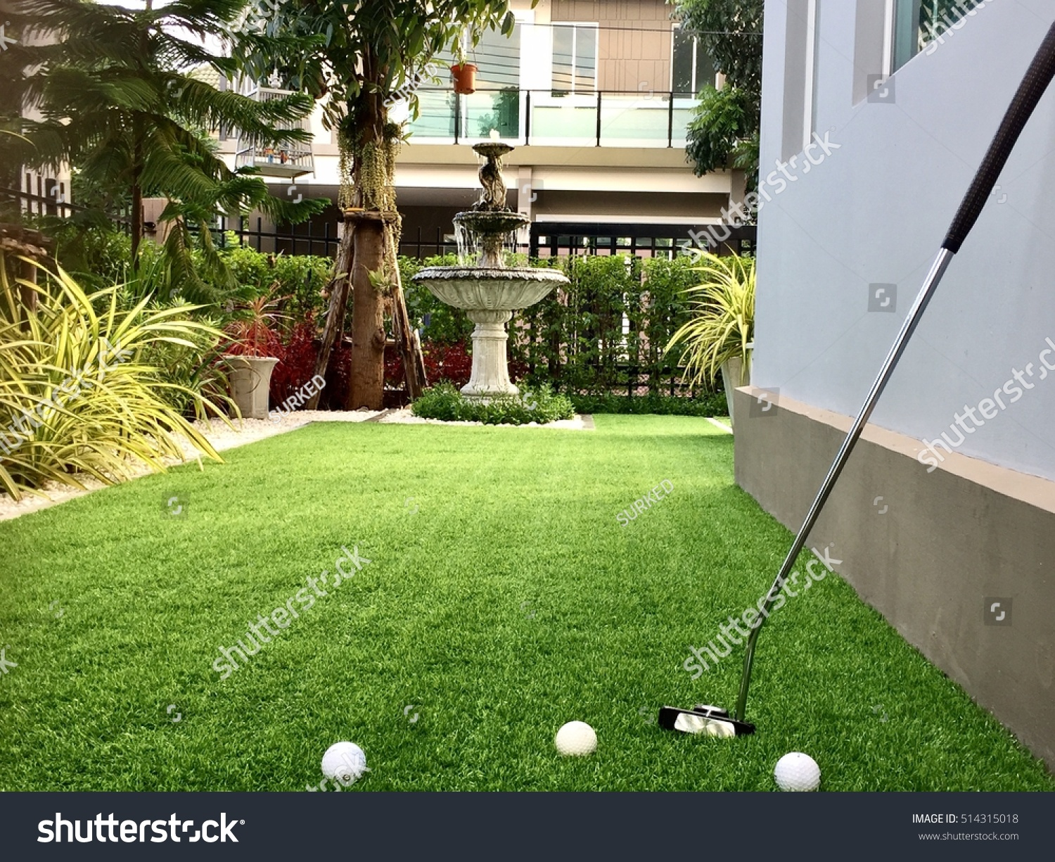 Home golf course architecture design grass stock photo for Golf course home designs